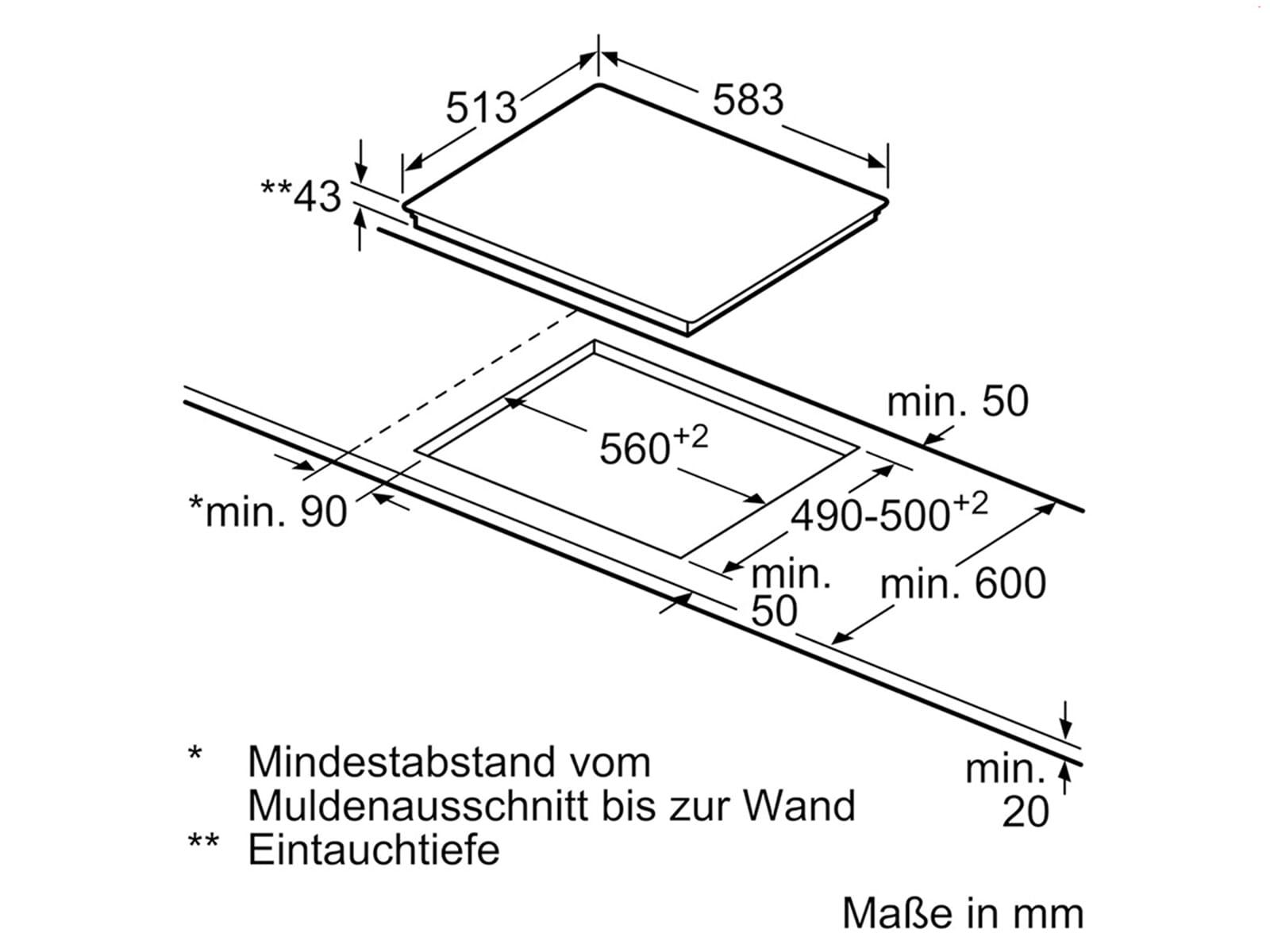 Siemens EA645GMA1E Glaskeramikkochfeld herdgebunden