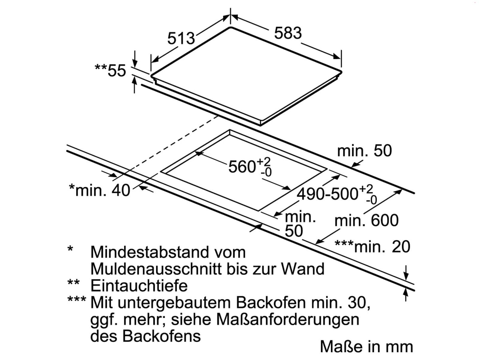 Siemens ED645FSB1E Induktionskochfeld autark