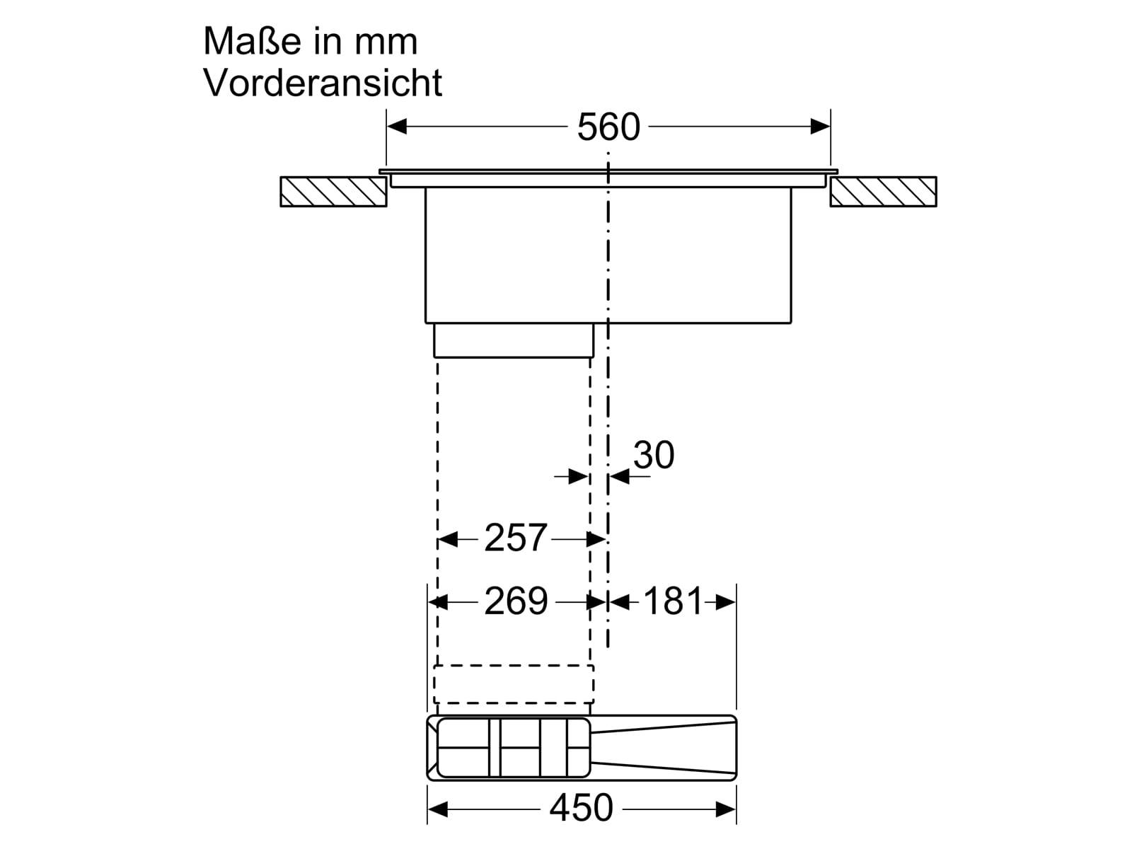 Siemens ED711FQ15E Induktionskochfeld-Dunstabzug-Kombination