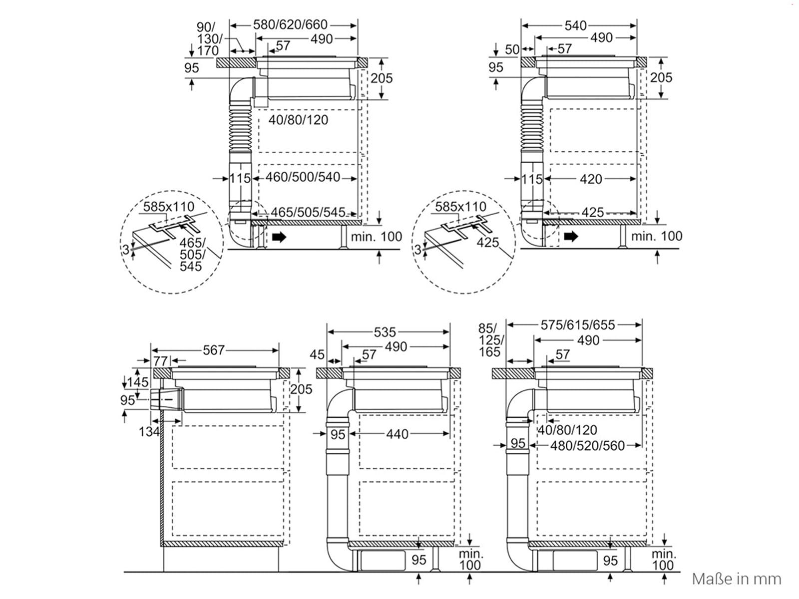 Bekannt Siemens ED875FS11E Induktionskochfeld-Dunstabzug-Kombination WM49