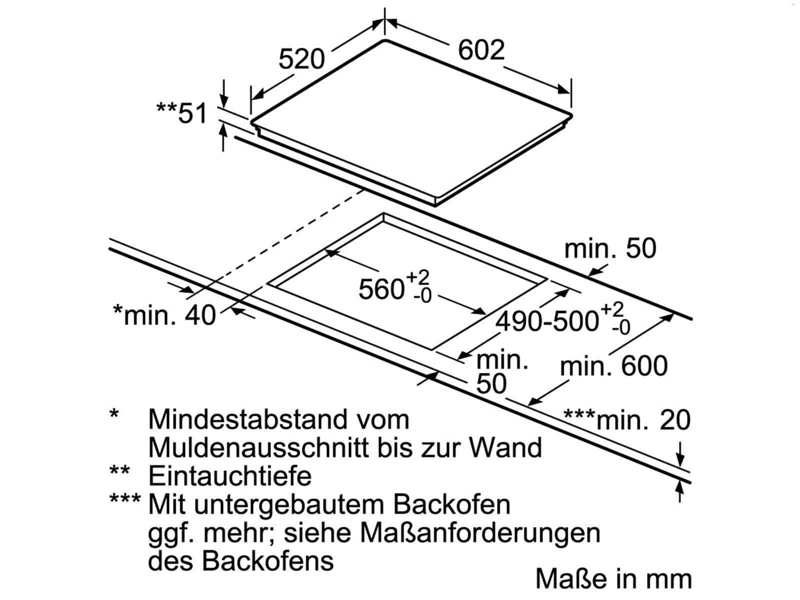Siemens EH675FFC1E Induktionskochfeld autark