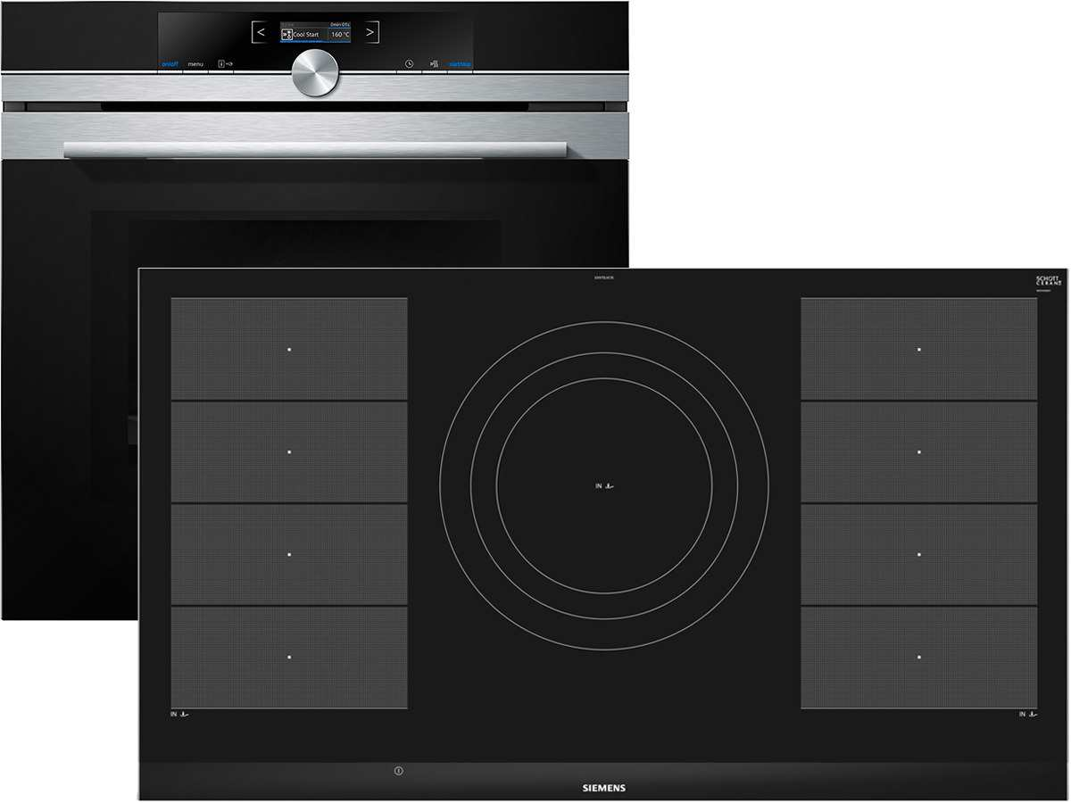 Siemens eq2z089 set backofen mit mikrowelle hm633gns1 for Backofen mit induktion