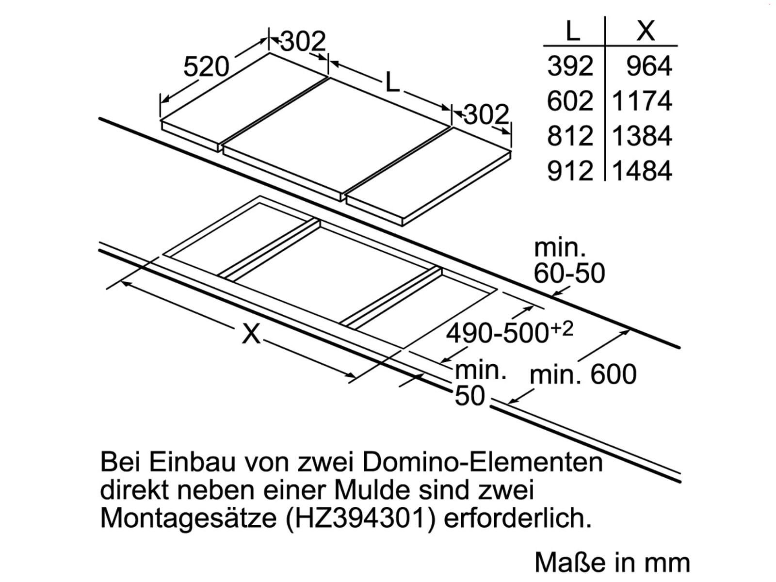 Siemens ET375FUB1E Domino Kochfeld Lava-Grill Edelstahl autark