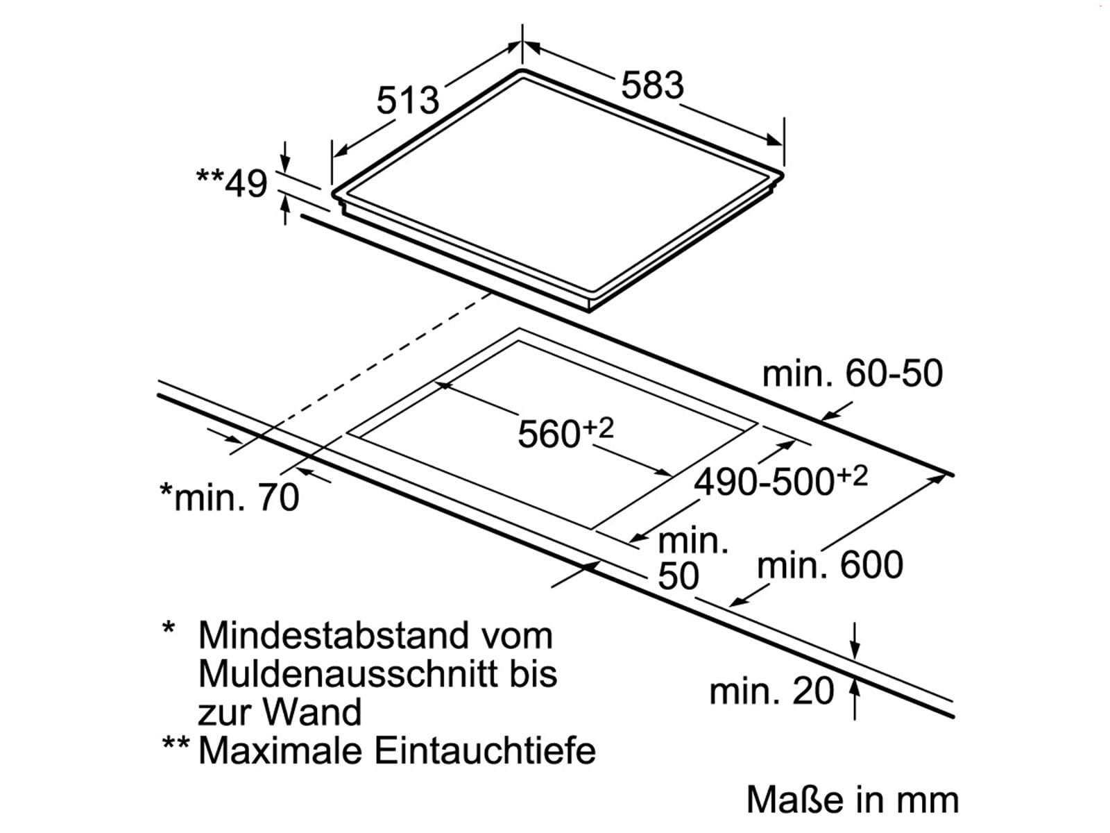 Siemens EQ2Z113 Set Backofen HB633GBS1 Edelstahl + Glaskeramikkochfeld ET645HN17E