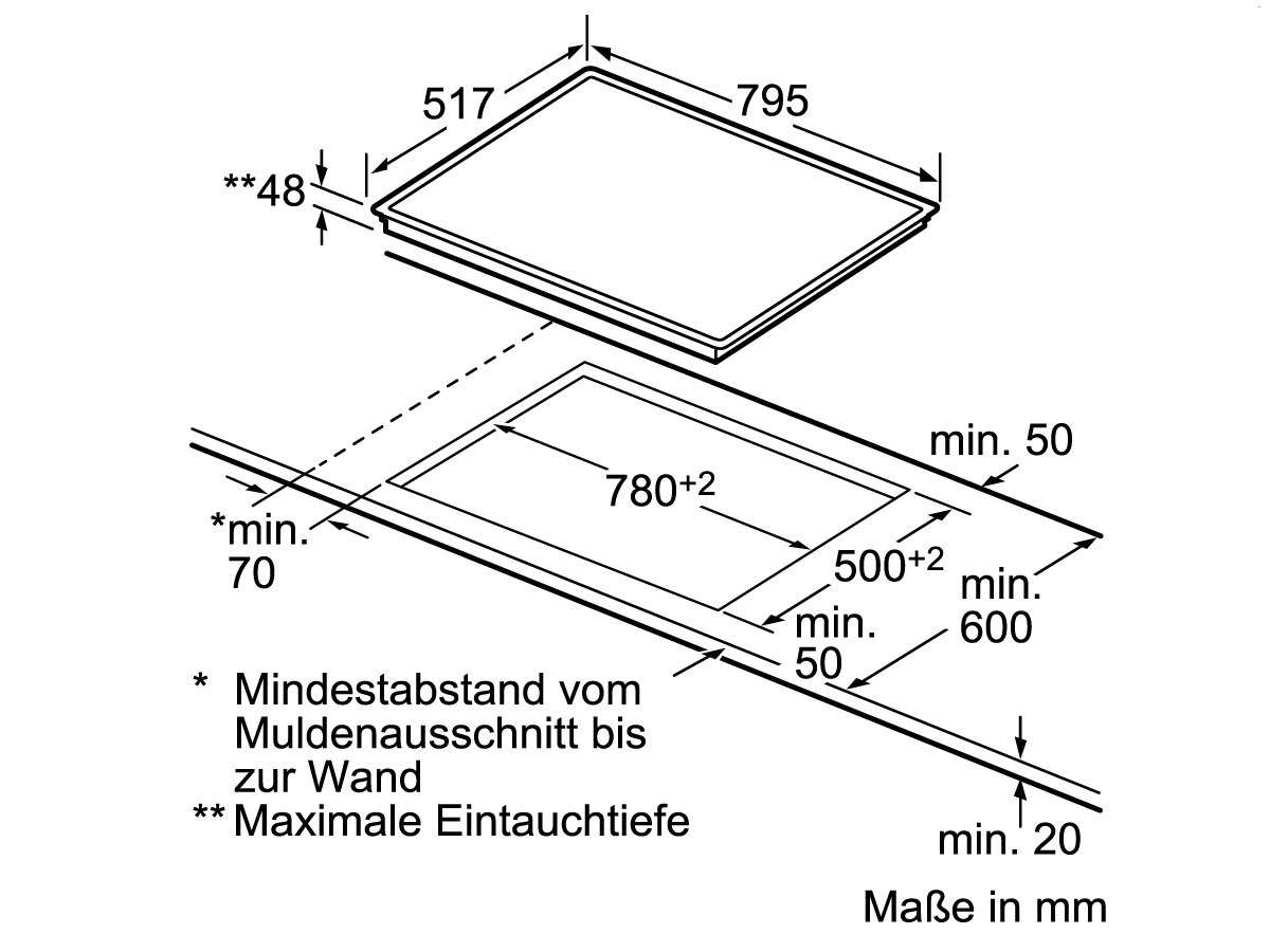 Siemens EQ214KA00Z Set Backofen HB213ABS0 Edelstahl + Glaskeramikkochfeld ET845HH17
