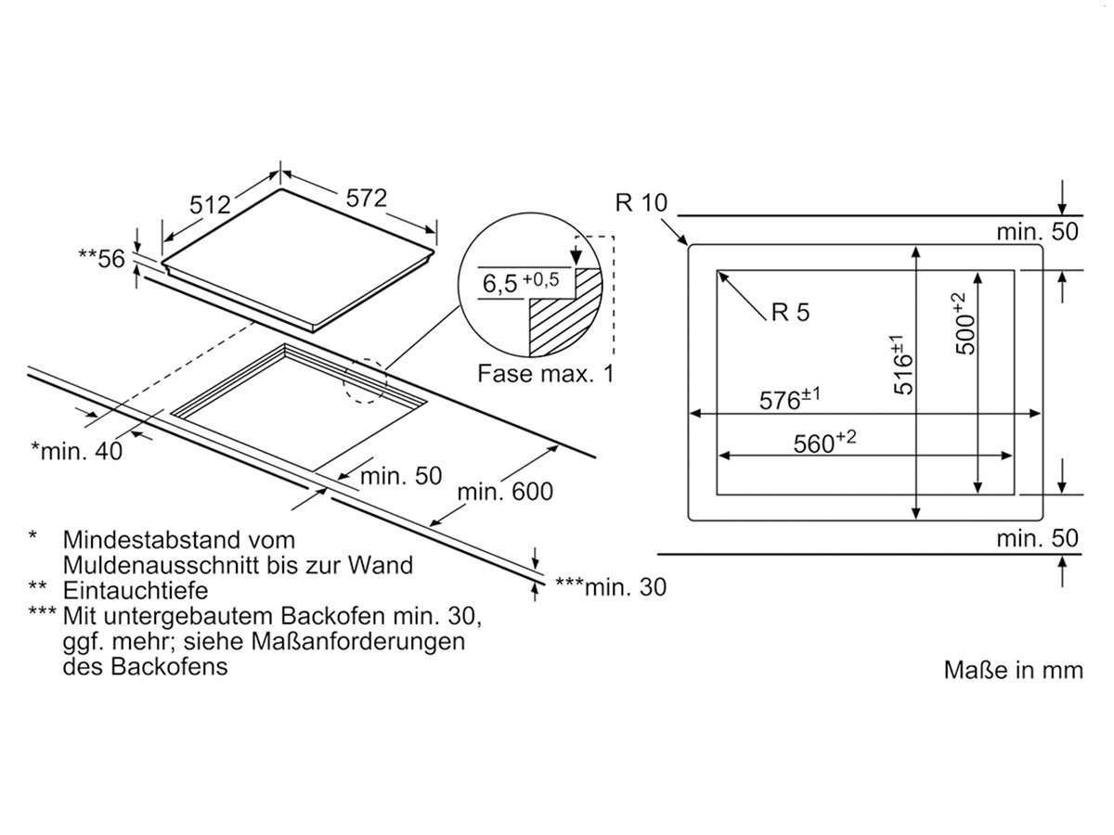 siemens eu601feb2e induktionskochfeld autark. Black Bedroom Furniture Sets. Home Design Ideas
