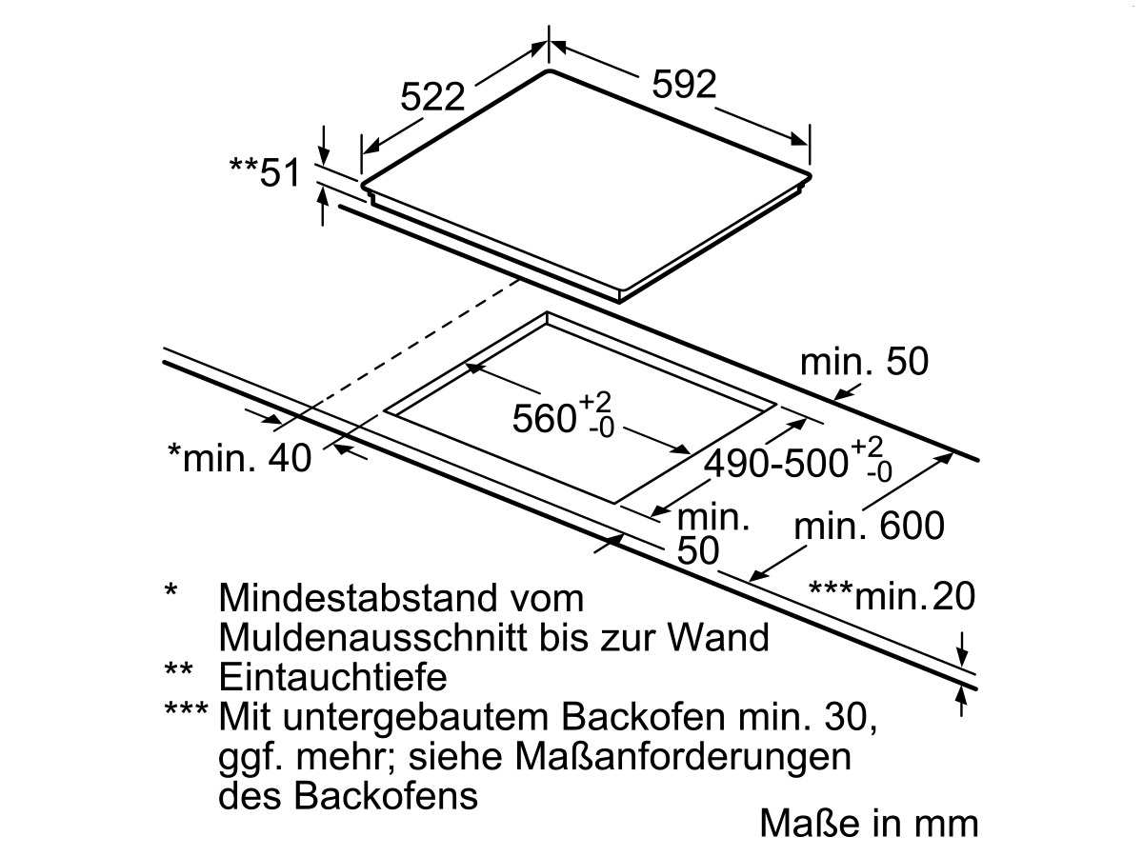 Siemens EQ212WA00Z Set Backofen HB213ABS0 Edelstahl + Induktionskochfeld EU611BEB2E