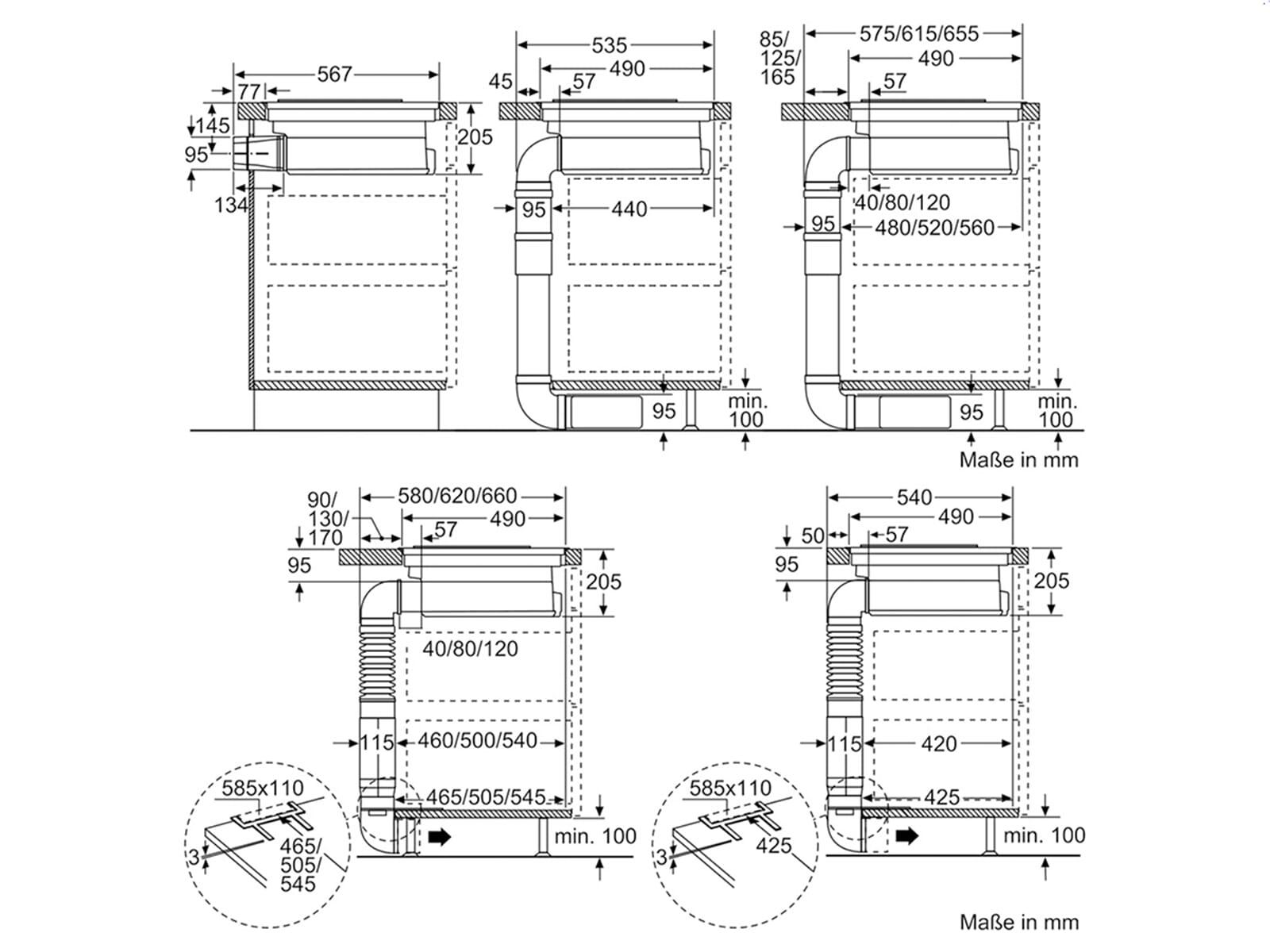 Siemens EX845LX34E Induktionskochfeld Dunstabzug Kombination