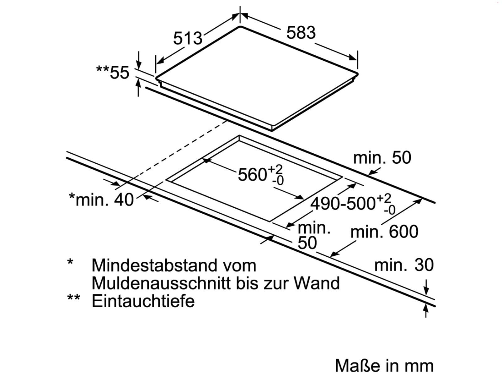 Bevorzugt Siemens EY645CXB1E Induktionskochfeld herdgebunden KQ93