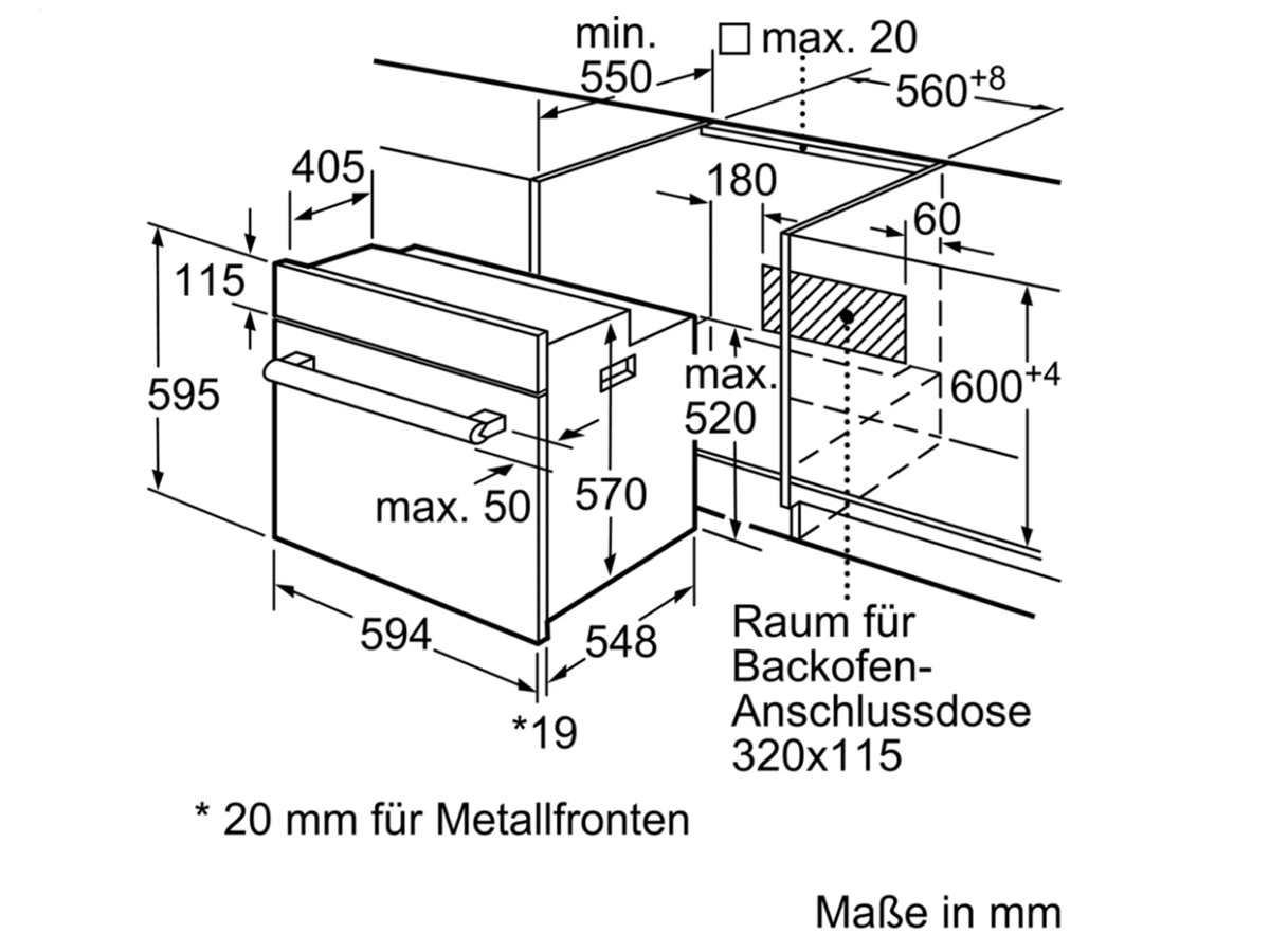 Siemens HB113FBS0 Backofen Edelstahl