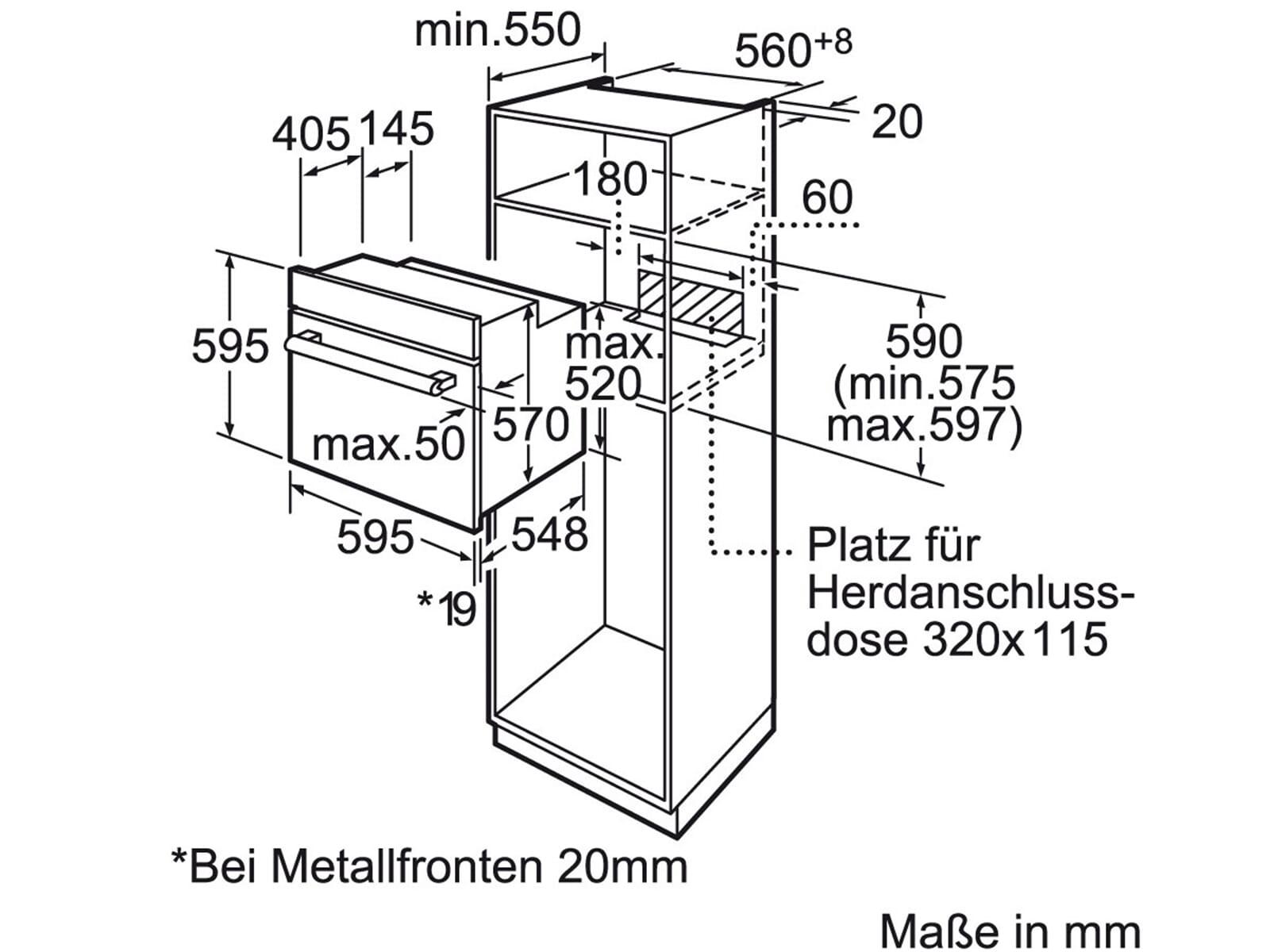 Siemens HB23AT510 Backofen Edelstahl