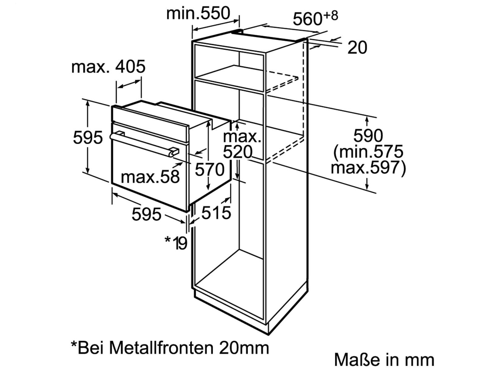 siemens hb74ab550 pyrolyse backofen edelstahl. Black Bedroom Furniture Sets. Home Design Ideas