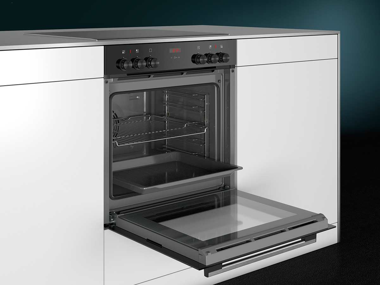 Siemens EQ210KA00 Set Einbauherd HE213ABR0 + Glaskeramikkochfeld EA645GN17