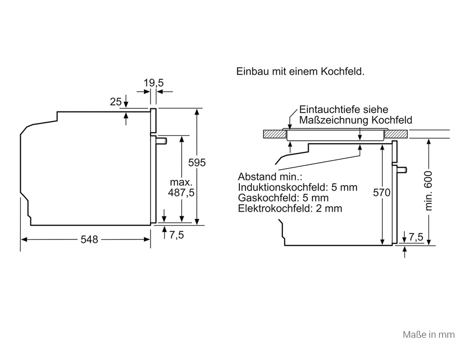 Siemens HE510ABR0 Einbauherd Edelstahl