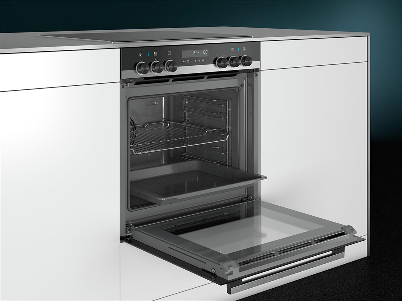 Siemens PQ521KA00 Set Einbauherd HE578ABS0 + Glaskeramikkochfeld EA645GN17