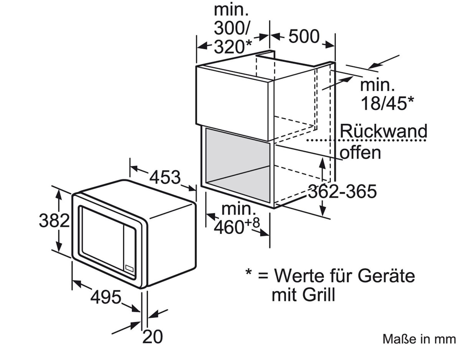 siemens hf15m552 einbau mikrowelle edelstahl. Black Bedroom Furniture Sets. Home Design Ideas