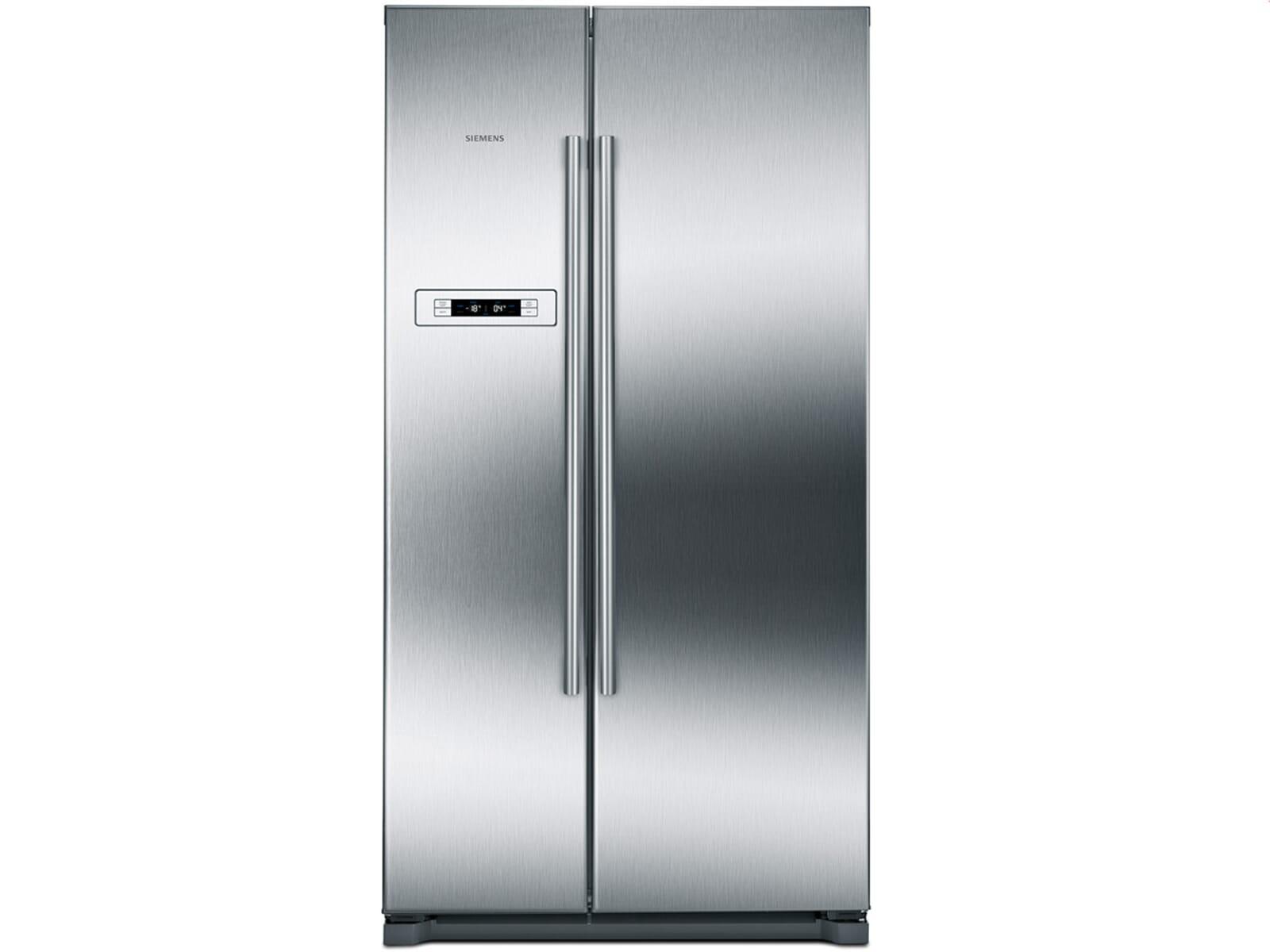 Retro Kühlschrank Amerikanisch : Siemens ka90nvi20 side by side kühl gefrier kombination edelstahl