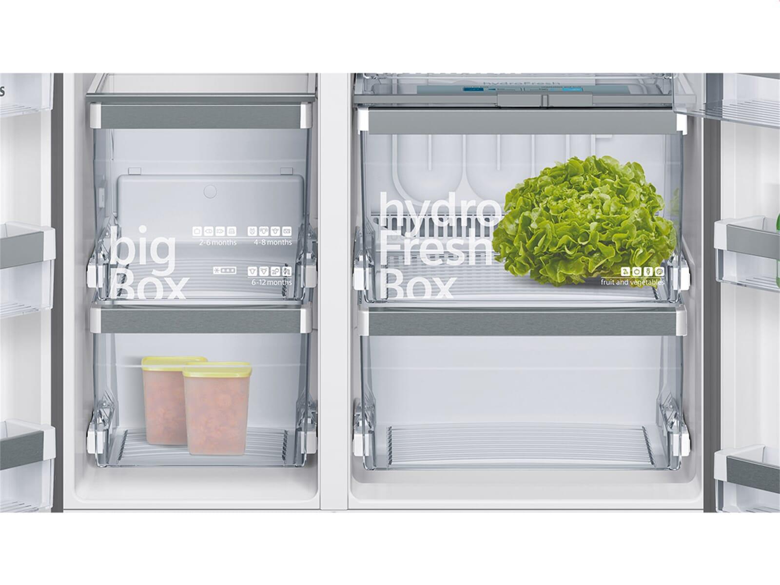 siemens ka92dsb30 side by side k hl gefrier kombination t ren schwarz ebay. Black Bedroom Furniture Sets. Home Design Ideas
