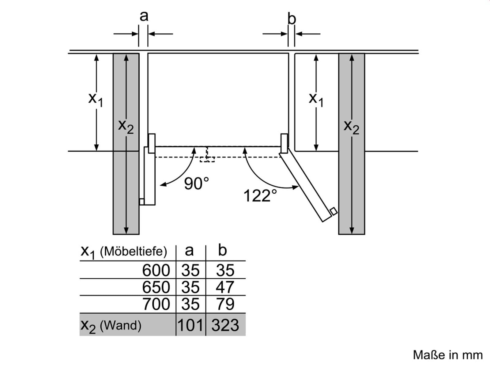 siemens ka92dsb30 side by side k hl gefrier kombination t ren schwarz. Black Bedroom Furniture Sets. Home Design Ideas