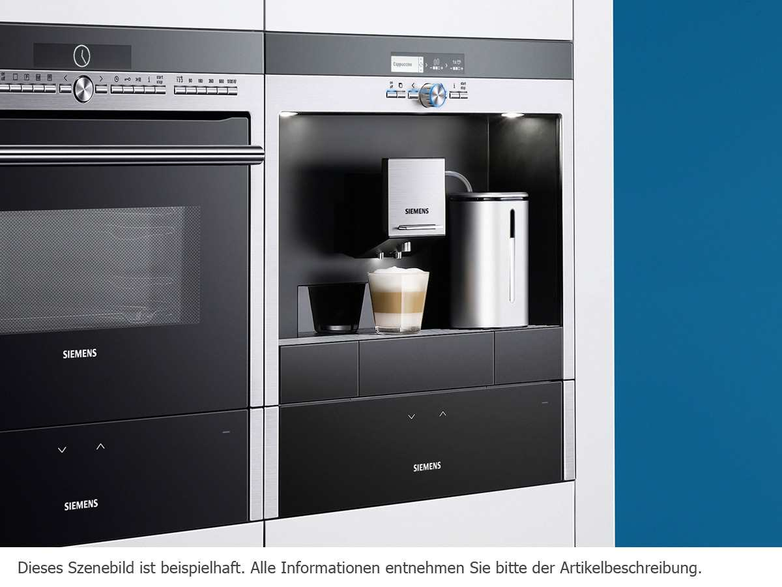 Siemens CT636LES6 Einbau-Kaffeevollautomat Edelstahl