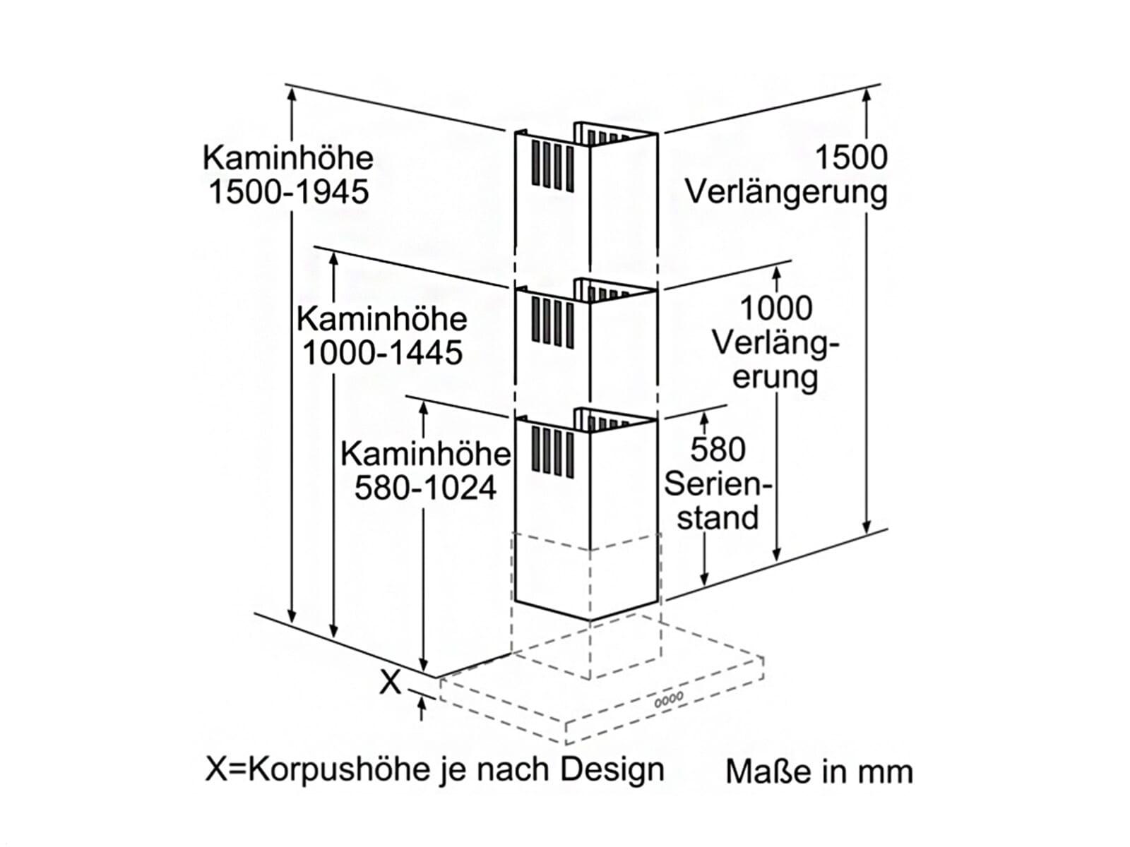 Siemens LZ12265 Kaminverlängerung 1000 mm