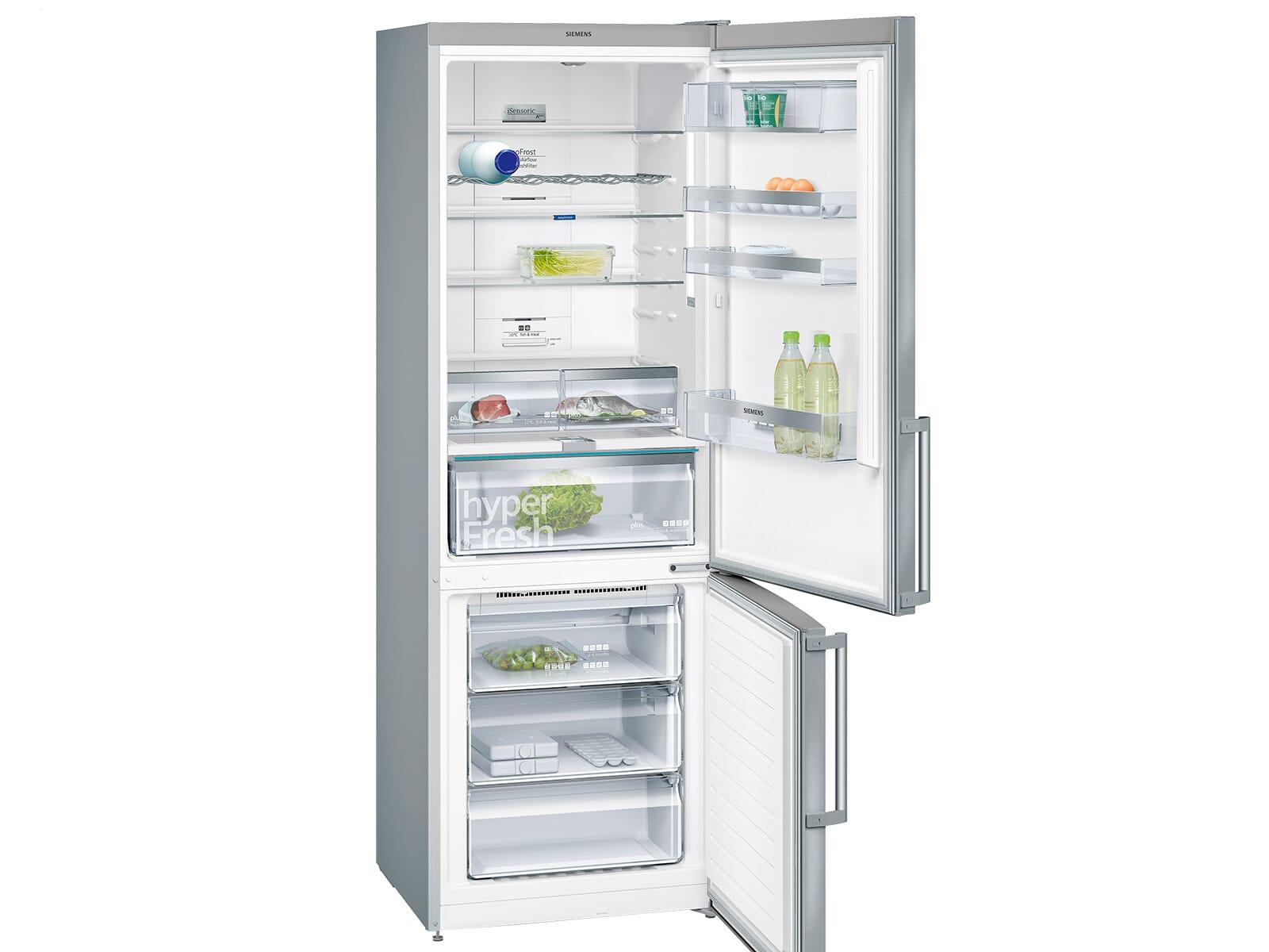 Siemens Kühlschrank Mit Eiswürfelbereiter : Siemens kg nai kühl gefrierkombination edelstahl