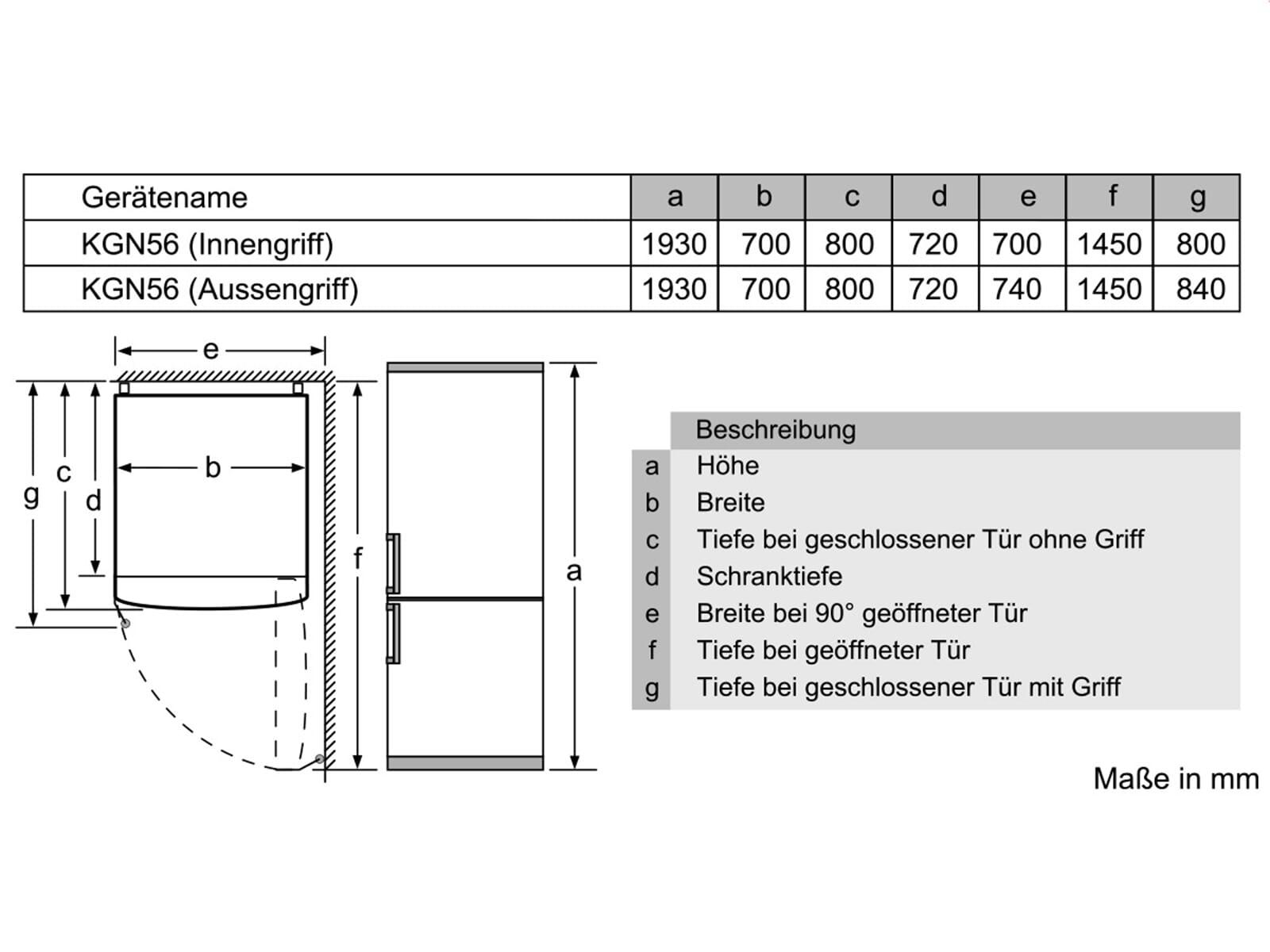 Siemens KG56FPI40 Kühl-Gefrierkombination Edelstahl