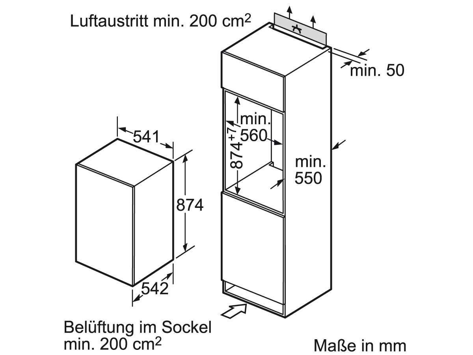 Siemens KI18LV52 Einbaukühlschrank