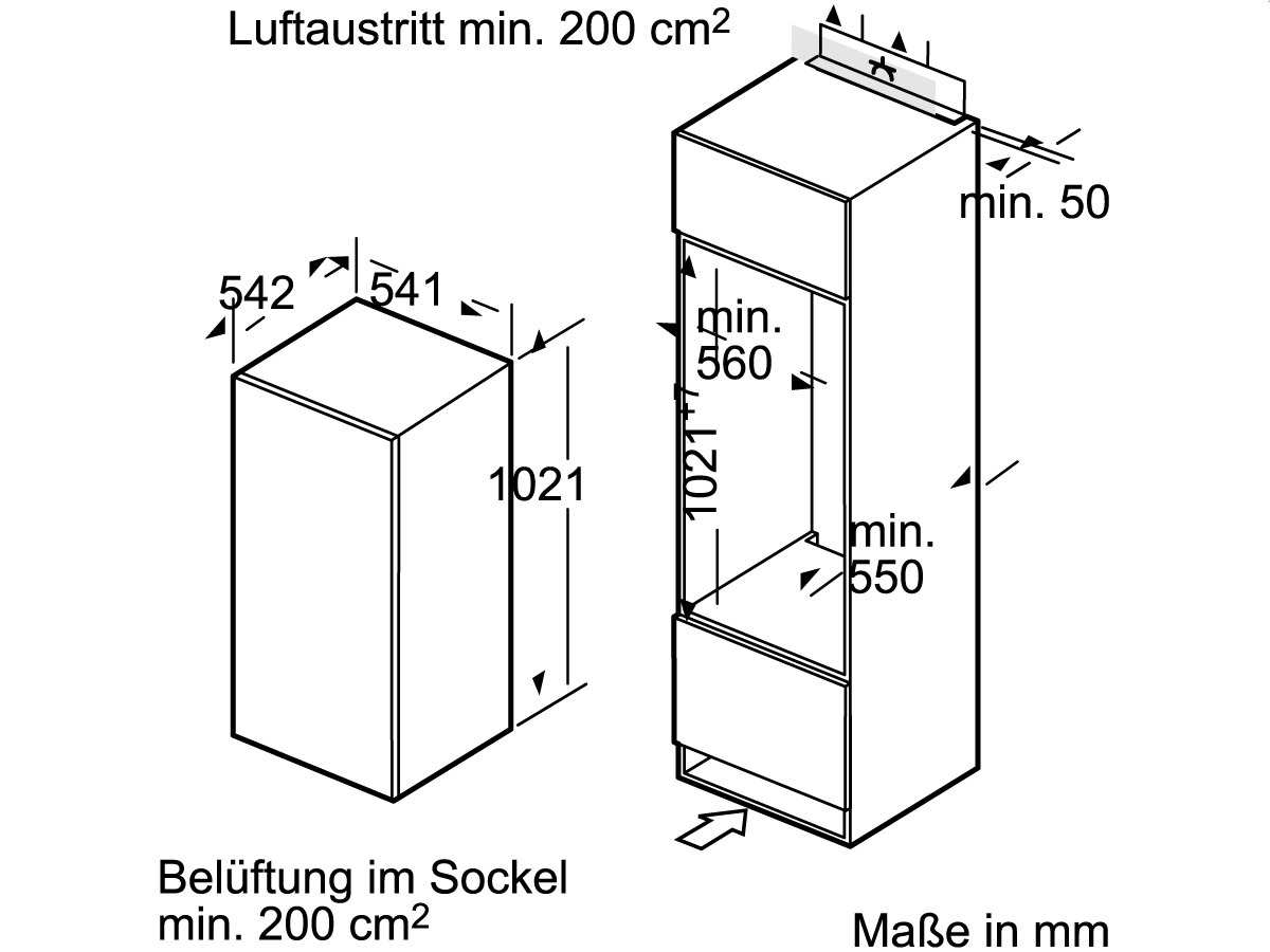 Siemens KI20LV62 Einbaukühlschrank