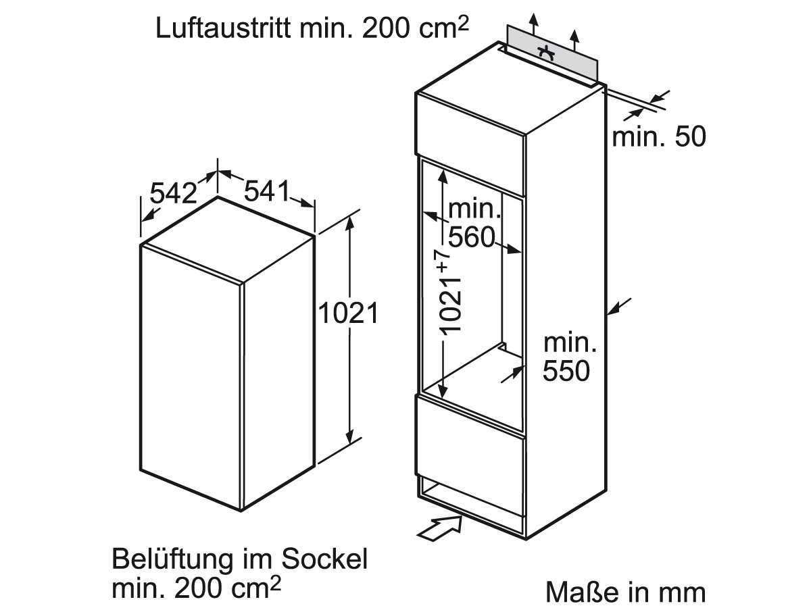 Siemens KI20RV52 Einbaukühlschrank