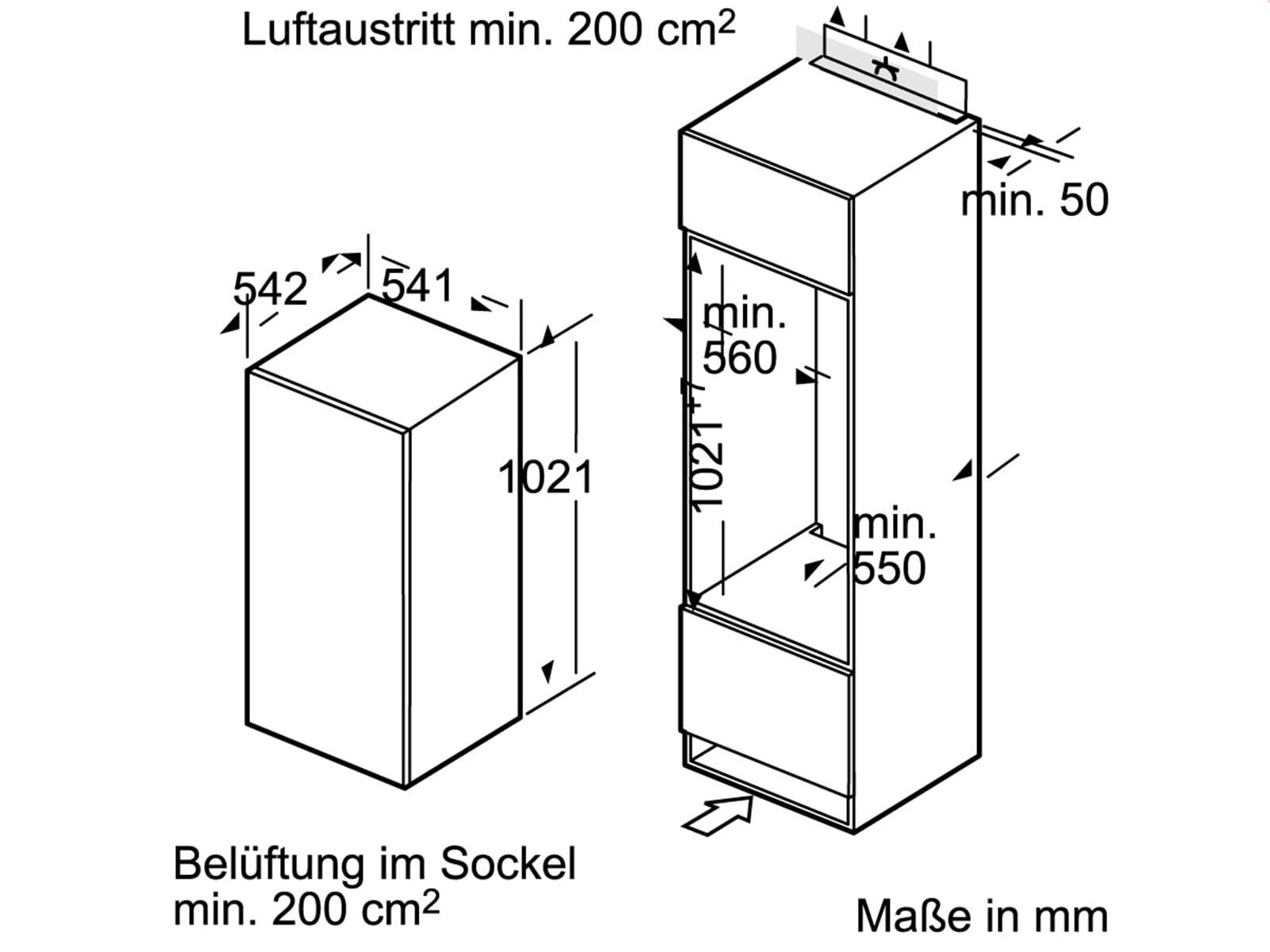 Siemens KI20RV62 Einbaukühlschrank