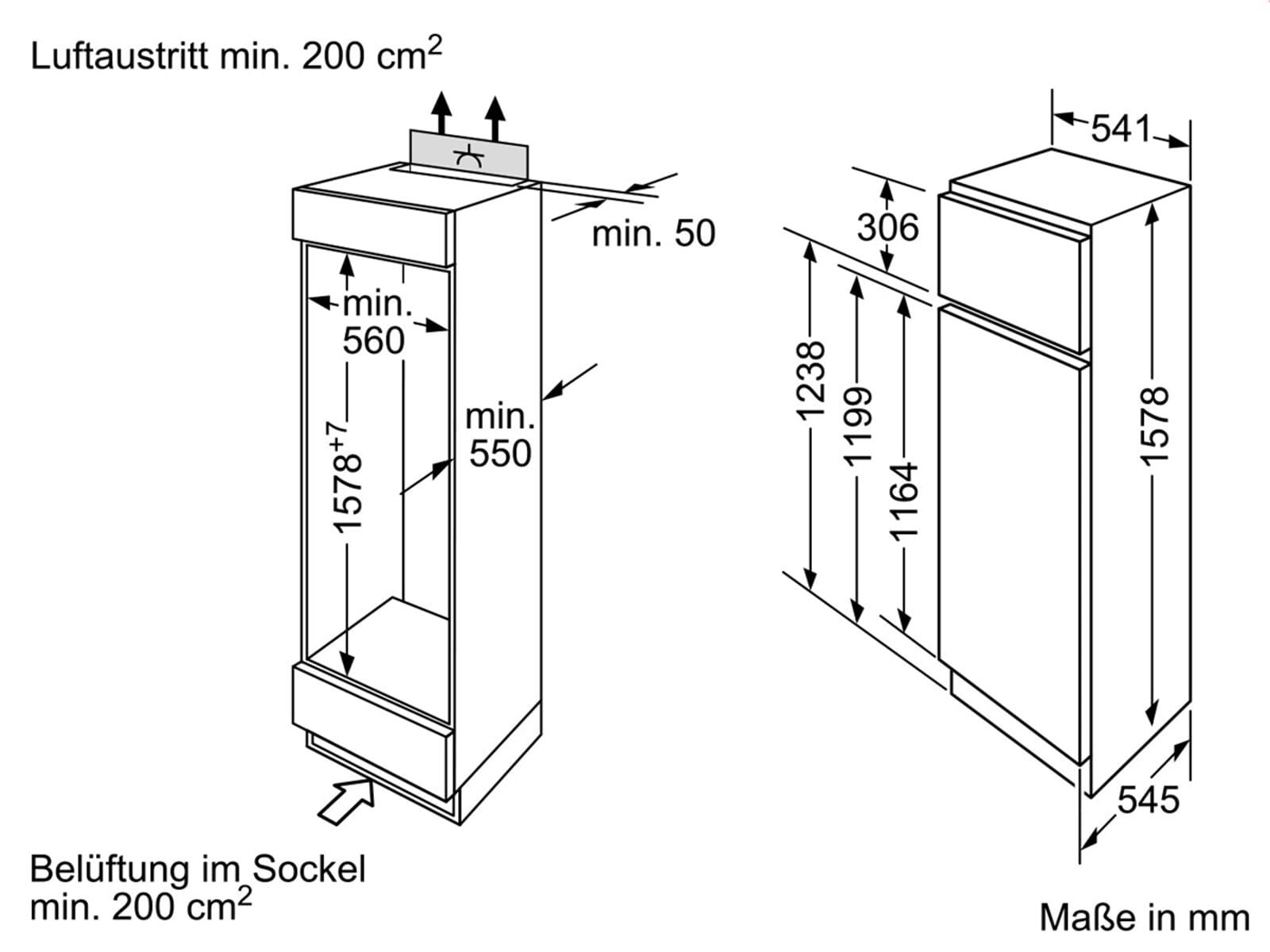 siemens ki28da20 einbau k hl gefrierkombination. Black Bedroom Furniture Sets. Home Design Ideas