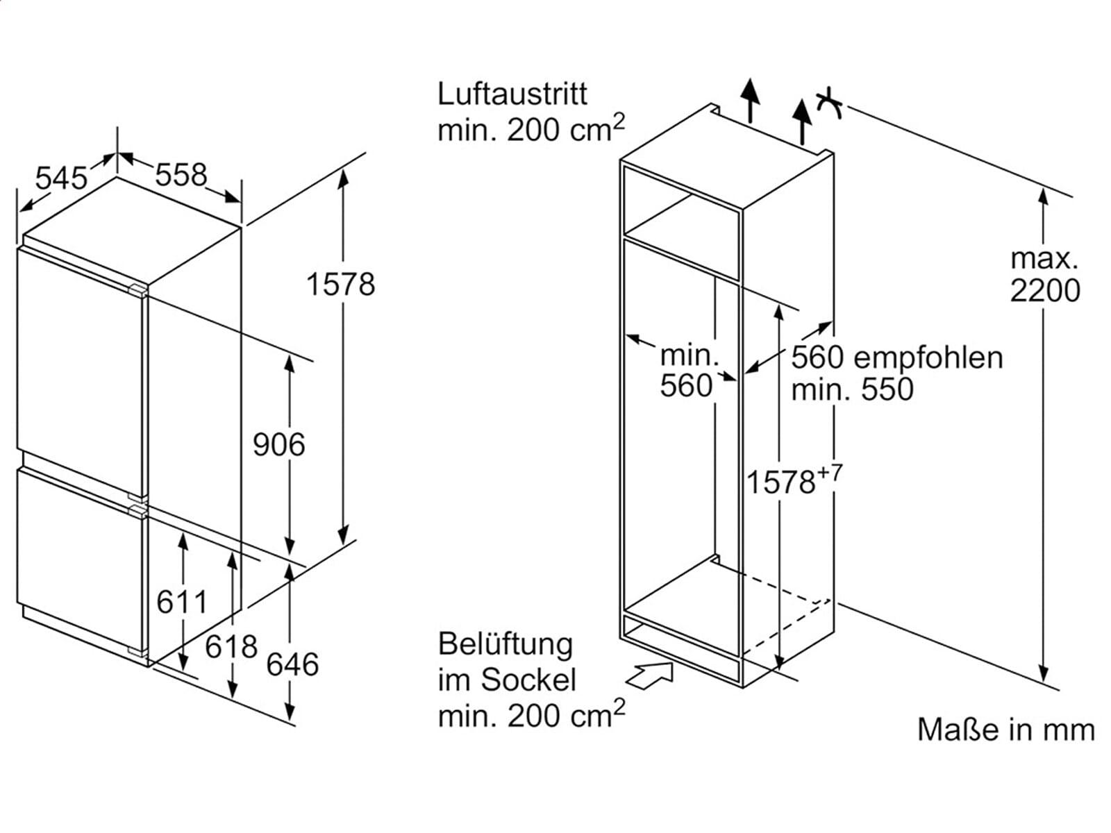 Siemens KI77SAD30 Einbau-Kühl-Gefrierkombination