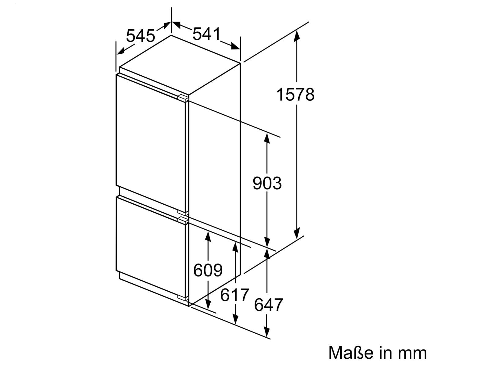 Siemens KI77VVFF0 Einbau-Kühl-Gefrierkombination