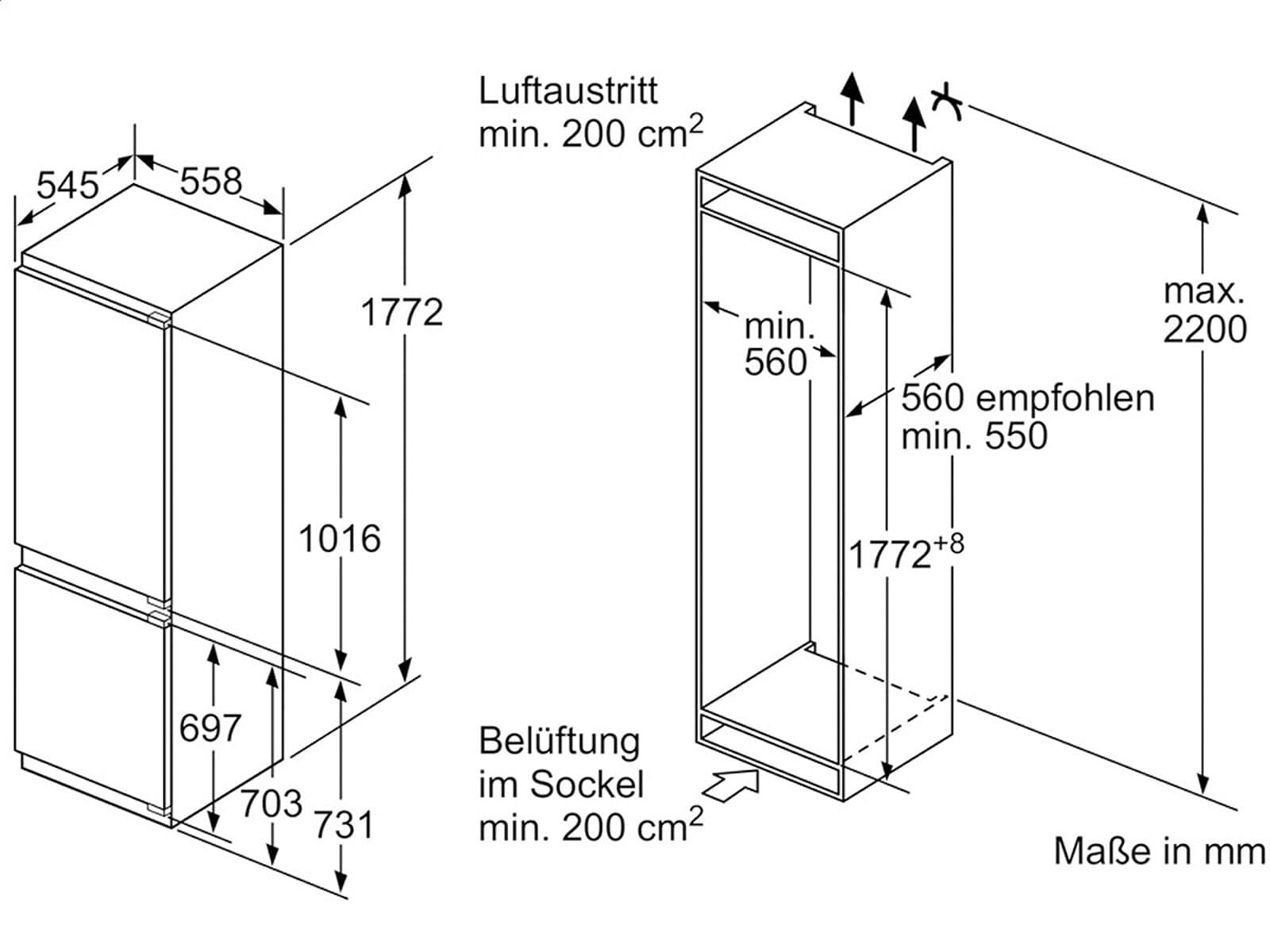 siemens ki86sad30 einbau k hl gefrierkombination. Black Bedroom Furniture Sets. Home Design Ideas