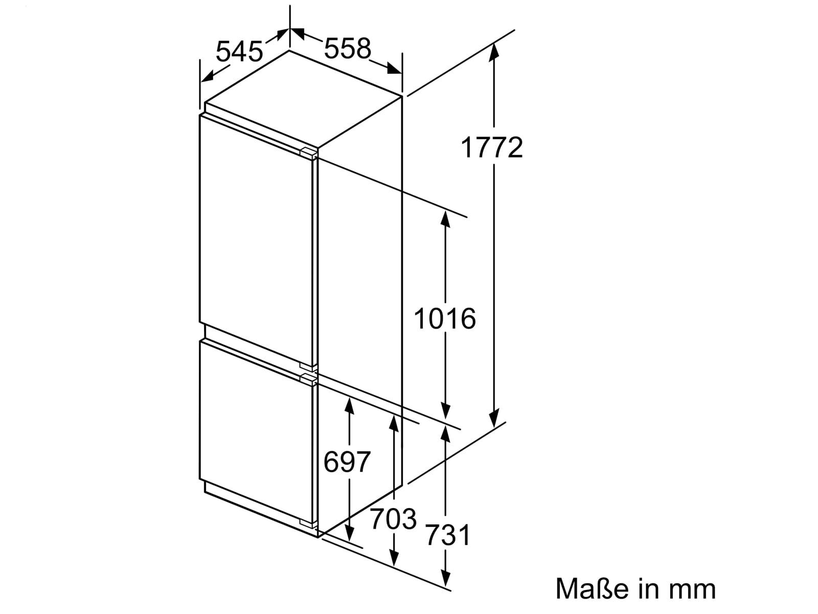 Siemens KI86SADE0 Einbau-Kühl-Gefrierkombination