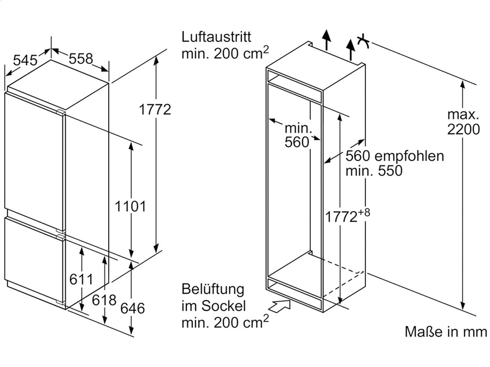 siemens ki87sad30 einbau k hl gefrierkombination. Black Bedroom Furniture Sets. Home Design Ideas