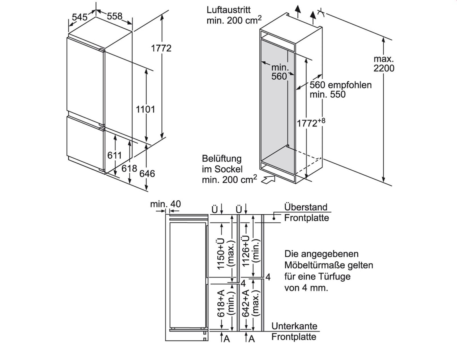 siemens ki87sad40 einbau k hl gefrierkombination ebay. Black Bedroom Furniture Sets. Home Design Ideas