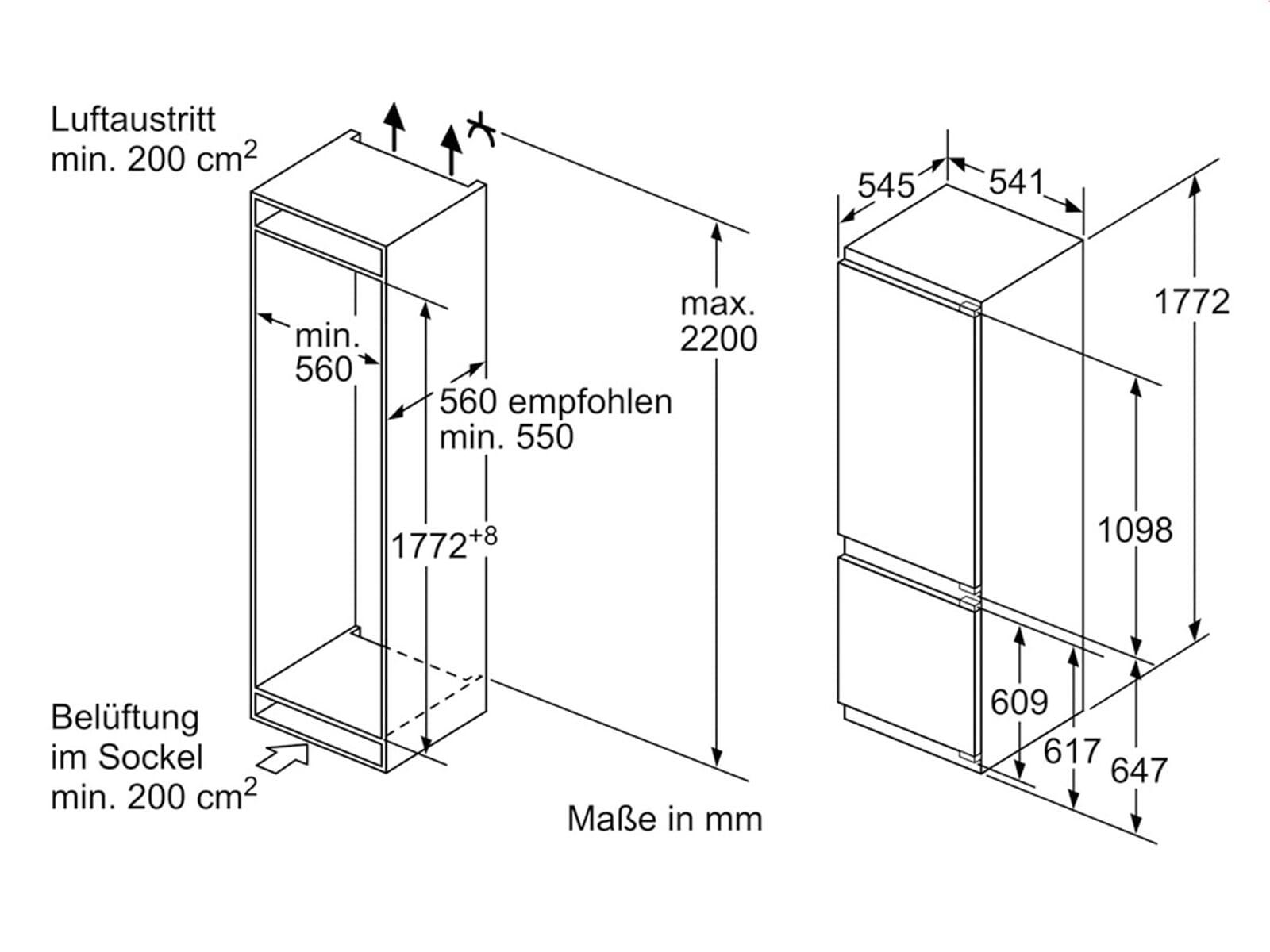 siemens ki87vvf30 einbau k hl gefrierkombination ebay. Black Bedroom Furniture Sets. Home Design Ideas