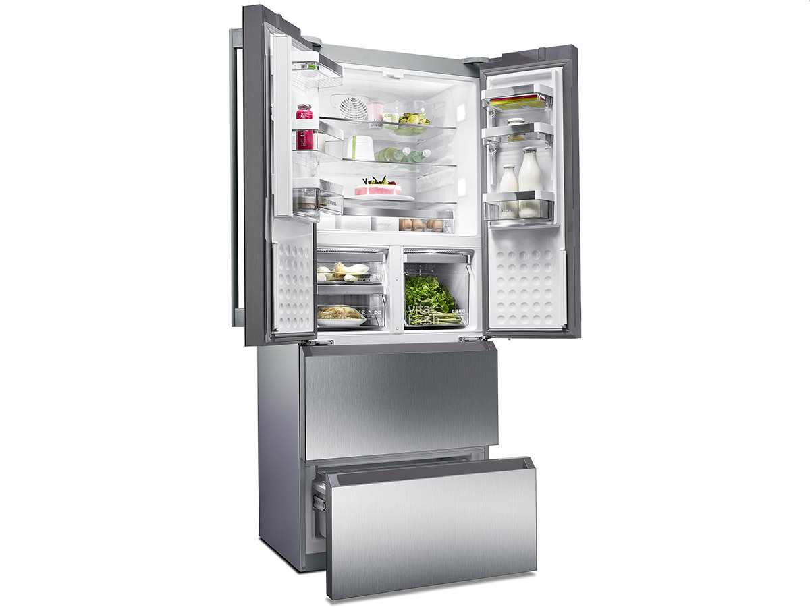 Siemens KM40FAI20 Frenchdoor Kühl-Gefrier-Kombination Edelstahl-Türen