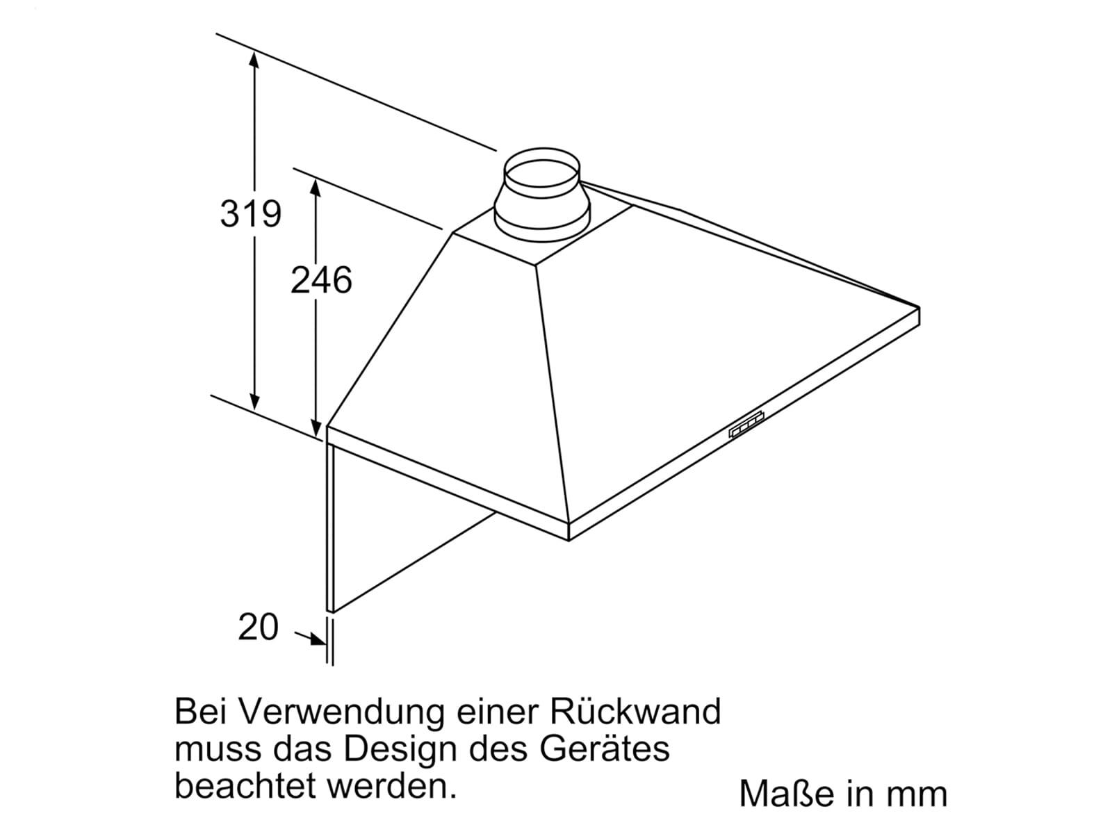Siemens LC64PBC50 Wandhaube Edelstahl