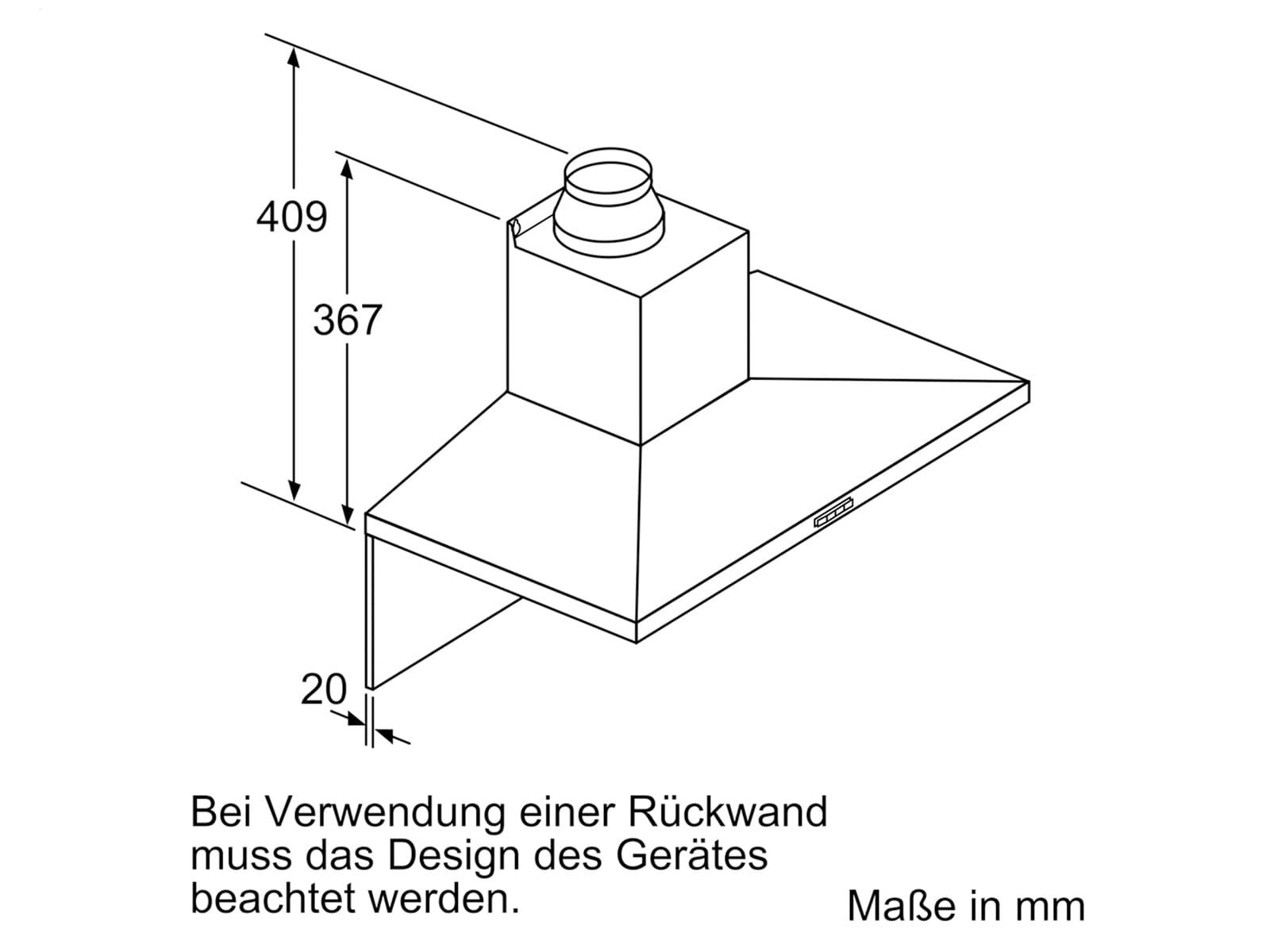 Siemens LC64QBC50 Wandhaube Edelstahl