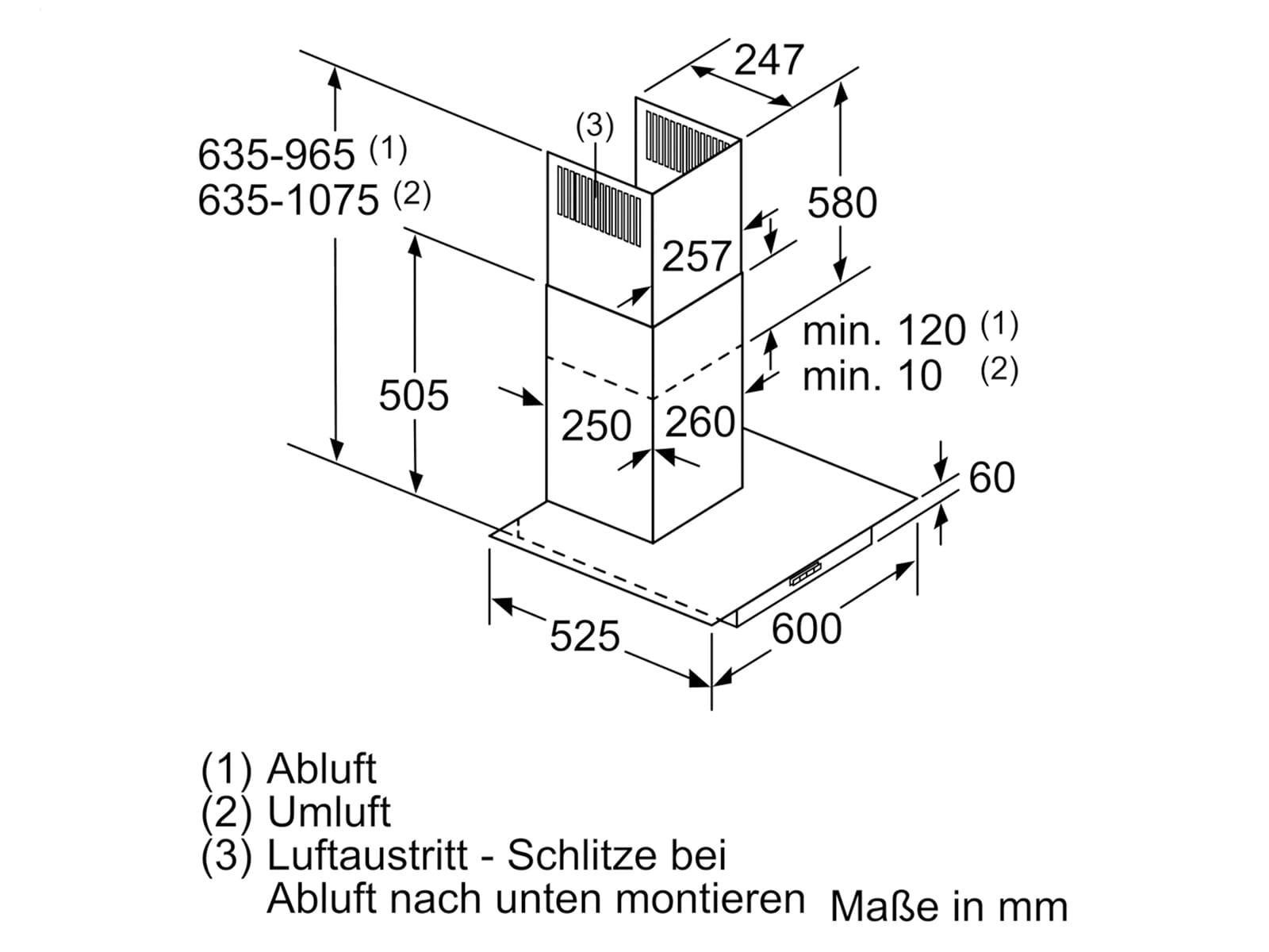 Siemens LC66GBM50 Wandhaube Edelstahl