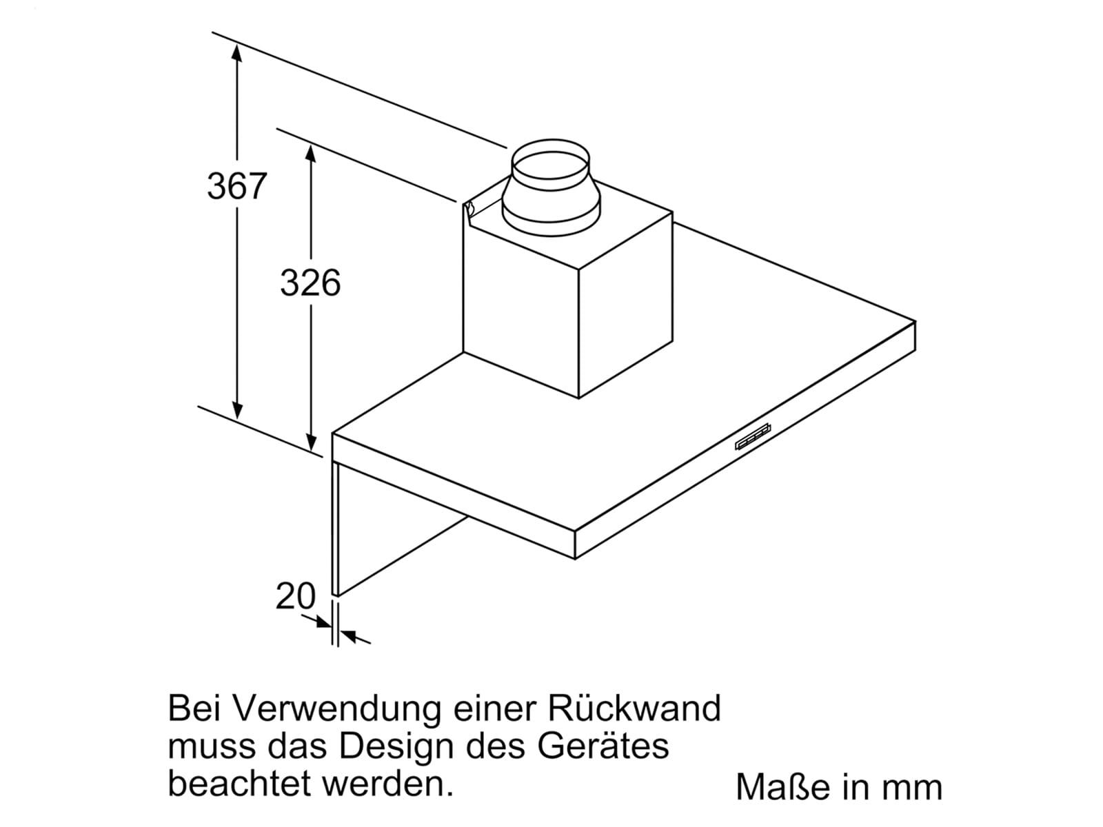 Siemens LC77BHM50 Wandhaube Edelstahl