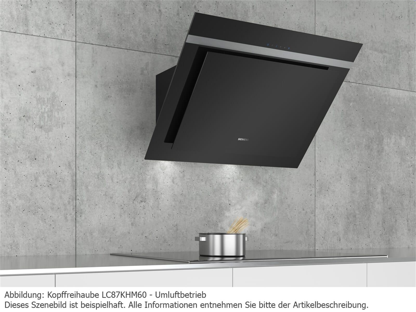 siemens lc87khm60 kopffreihaube schwarz. Black Bedroom Furniture Sets. Home Design Ideas