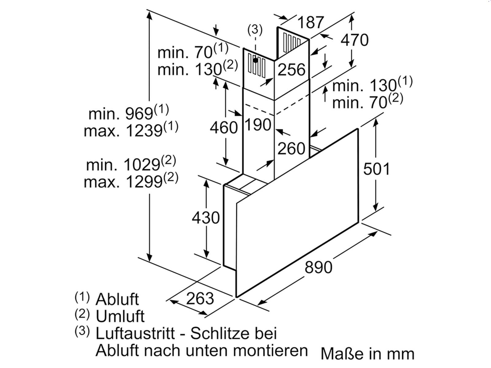 Siemens LC97FQW60 Kopffreihaube Schwarz