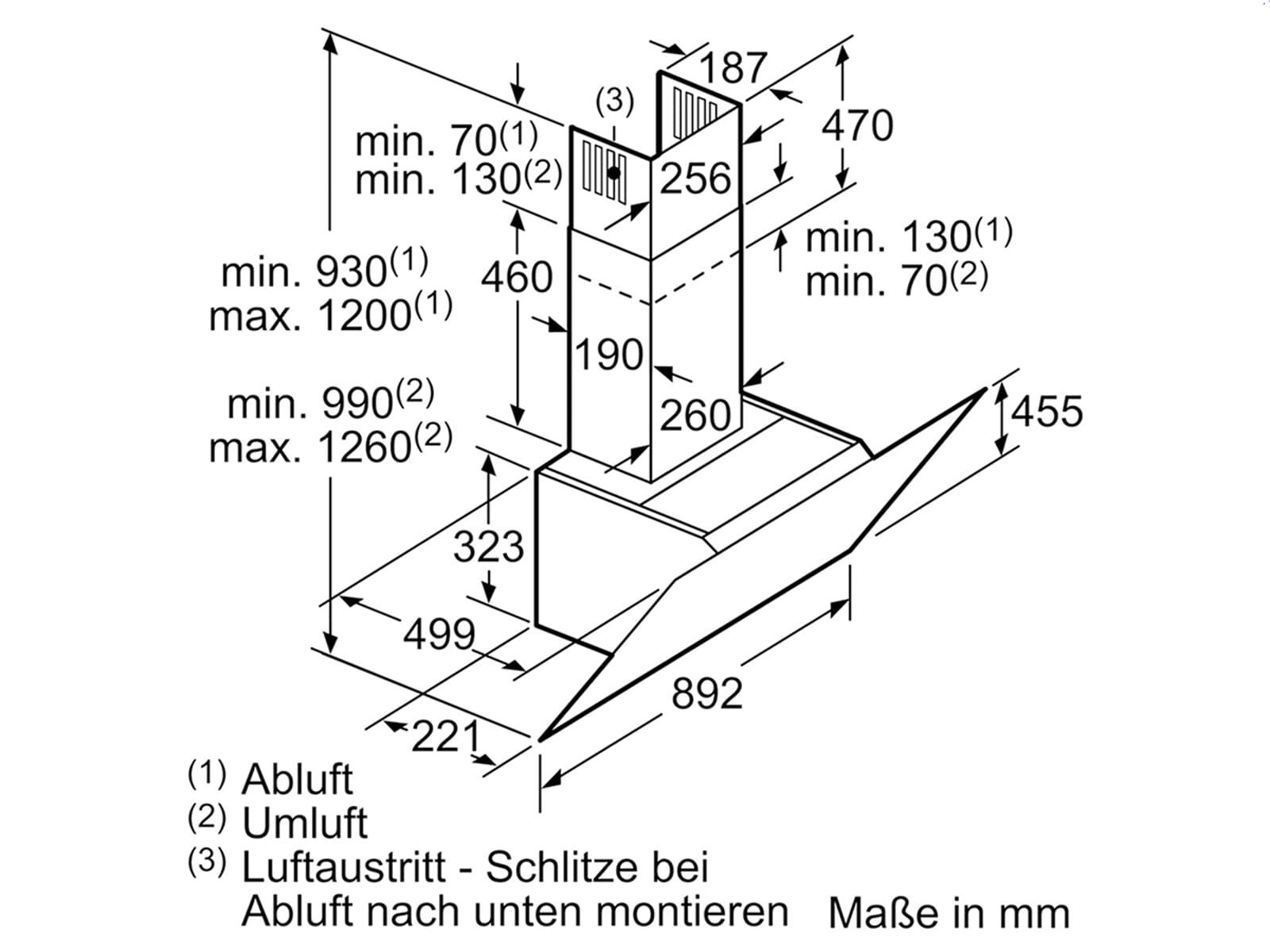 Siemens LC98KPW60 Kopffreihaube Schwarz