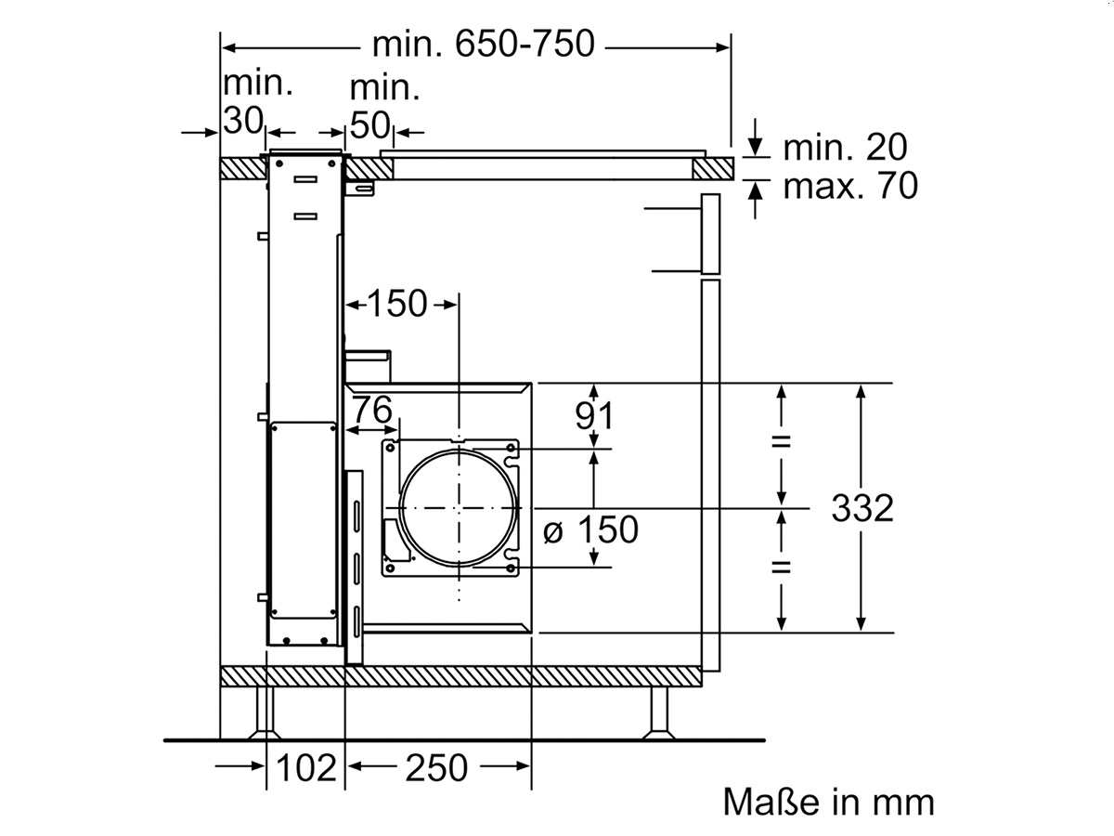 Siemens LD97AB570 Tischhaube Edelstahl
