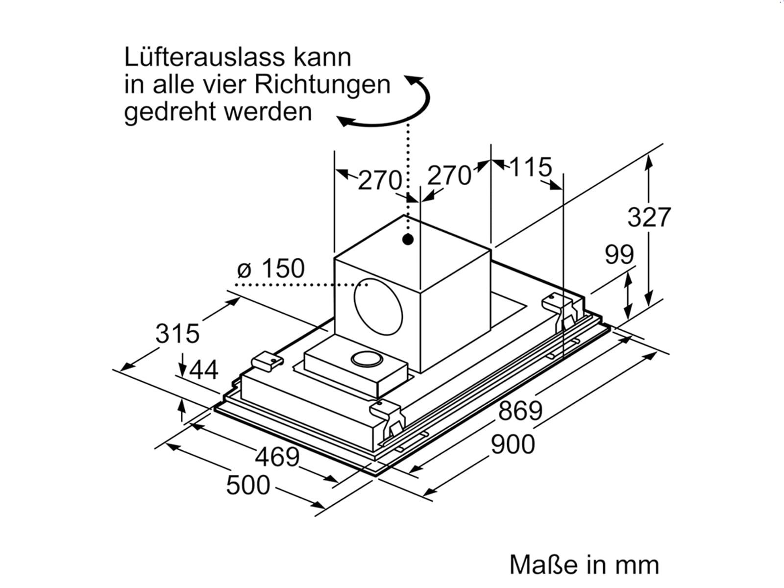 Siemens LF959RE55 Deckenhaube Edelstahl