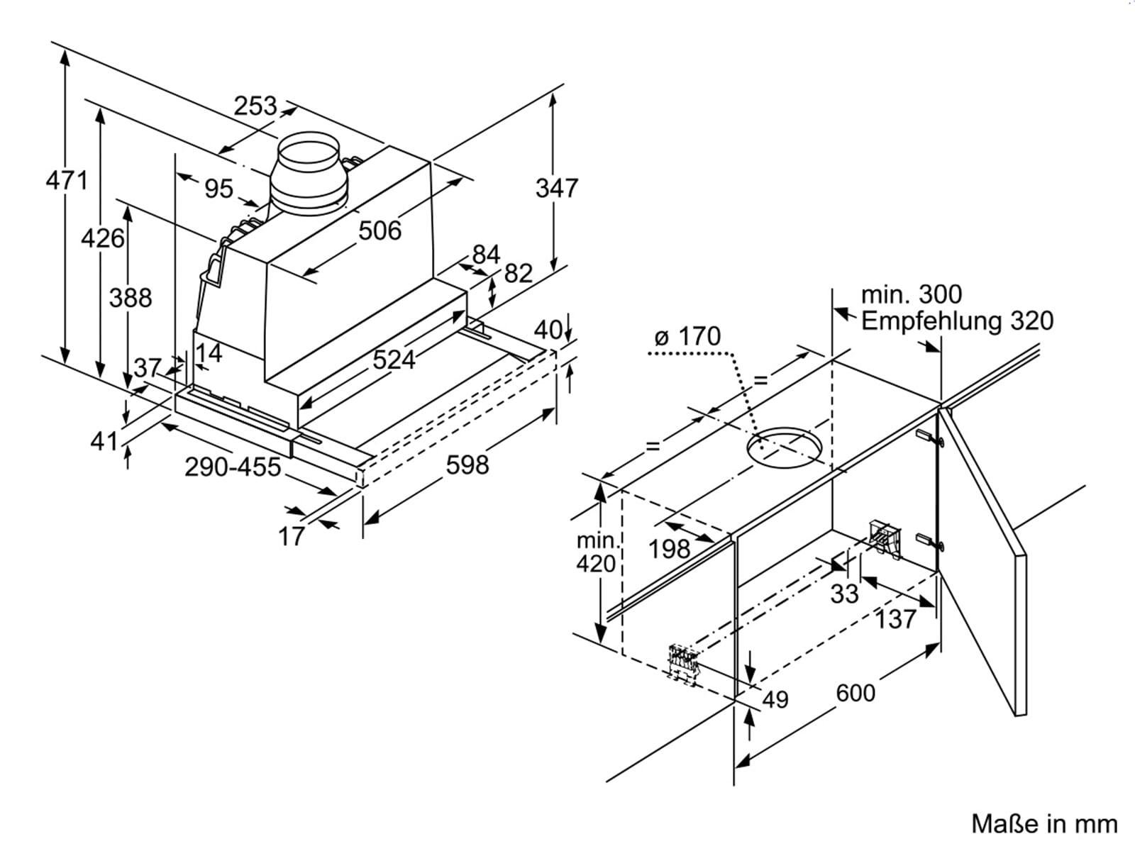 Siemens li67ra540 flachschirmhaube edelstahl for Siemens flachschirmhaube
